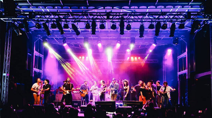Everyone on stage for the end of Thursday night's Petty Fest.Photo by  Wesley Kirk .
