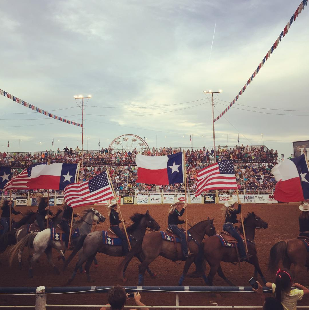 @lindz566 at the opening of the rodeo at the North Texas State Fair.