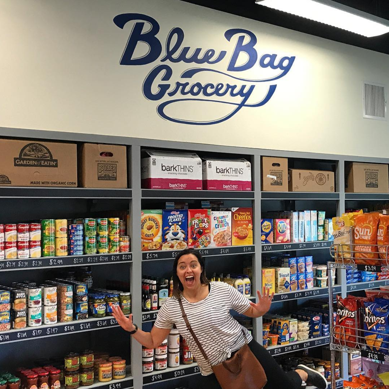 Downtown Denton now has a grocery store worth visiting. Check out Blue Bag Grocery on S. Locust! Photo by @glenfarris.