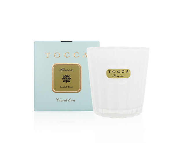 Tocca Florence Cadelina, $20.00:   Perfectly sized to set the mood, these iconic Tocca candles should be on every bedside and next to every bath...