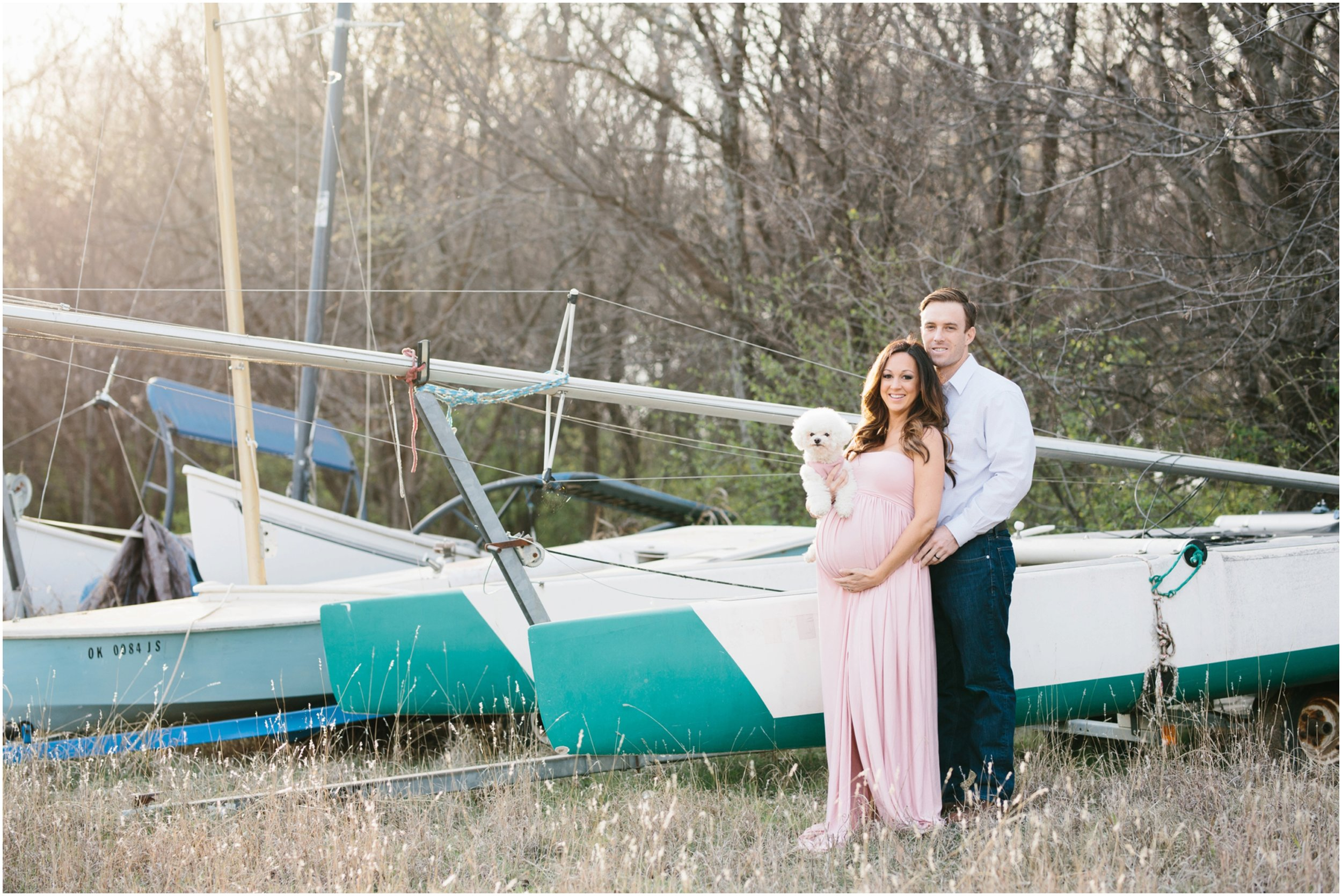 family pregnancy photo session at lake hefner in oklahoma city with family photographer