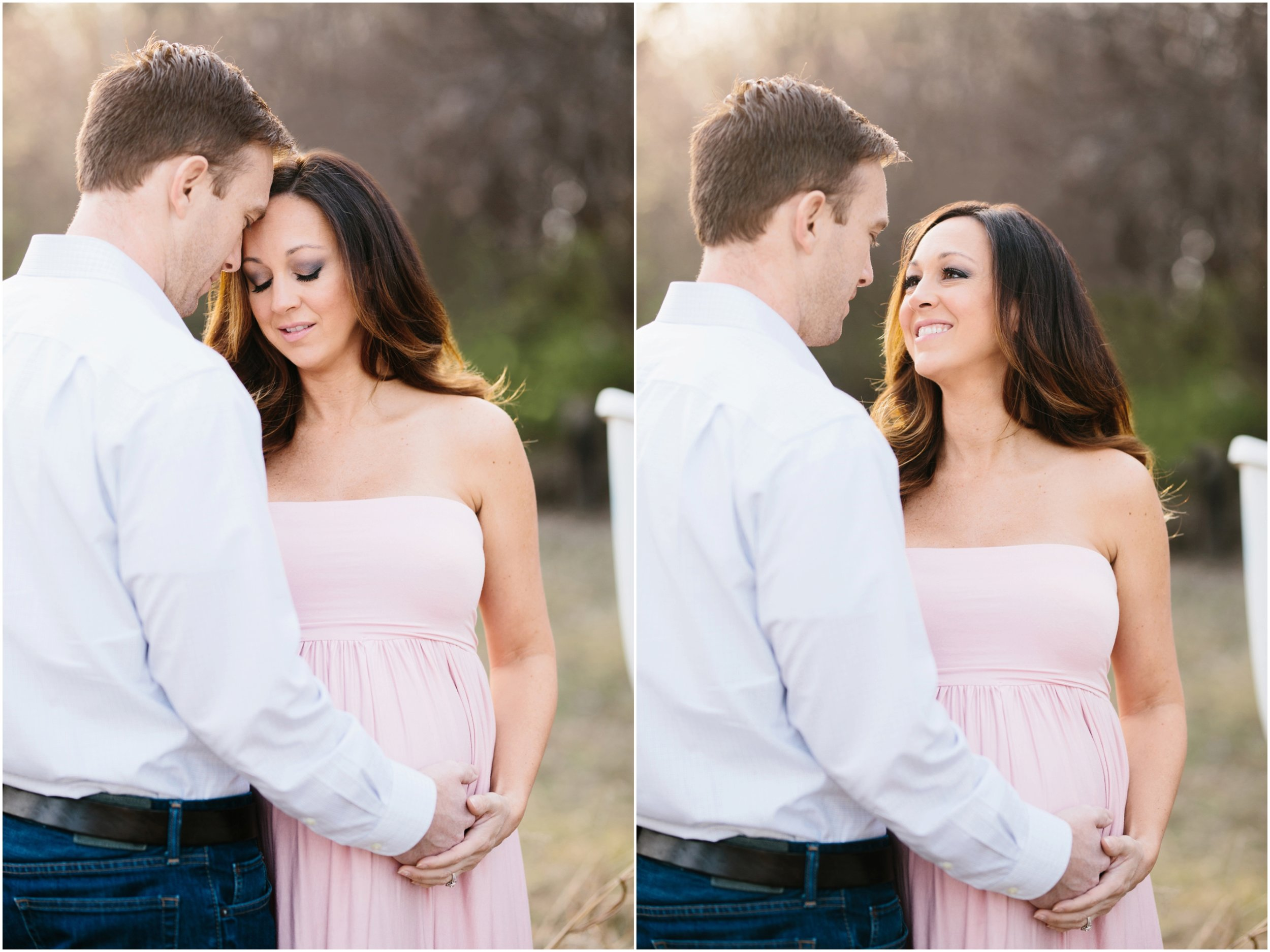 bright and airy maternity photos outside