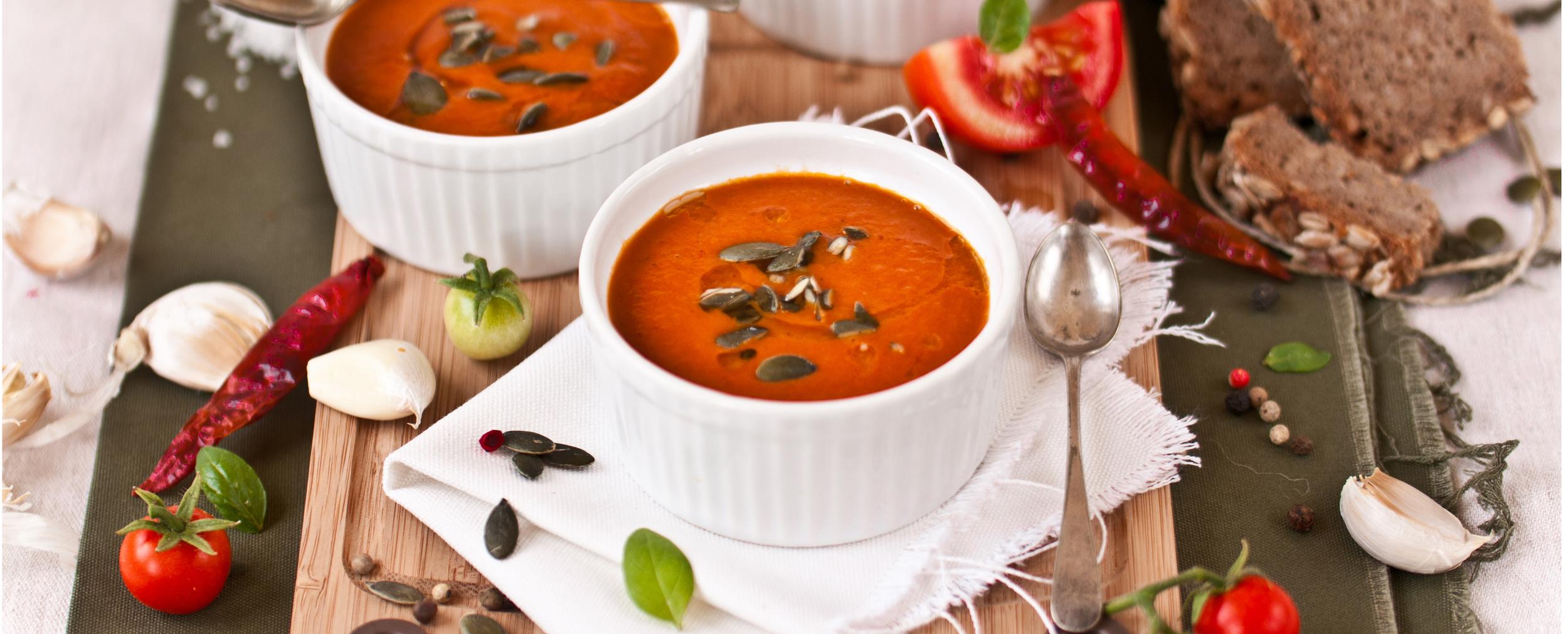 roasted tomato& harissa soup