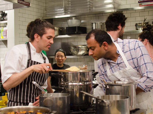 HAVEN'S KITCHEN, NYC Middle Eastern specialties Class, 2013