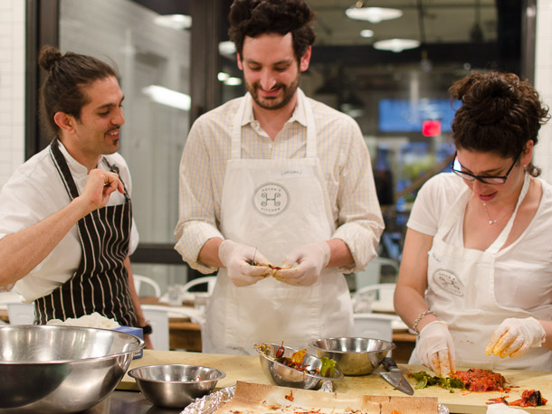 HAVEN'S KITCHEN, NYC Middle Eastern specialties Class, 2014