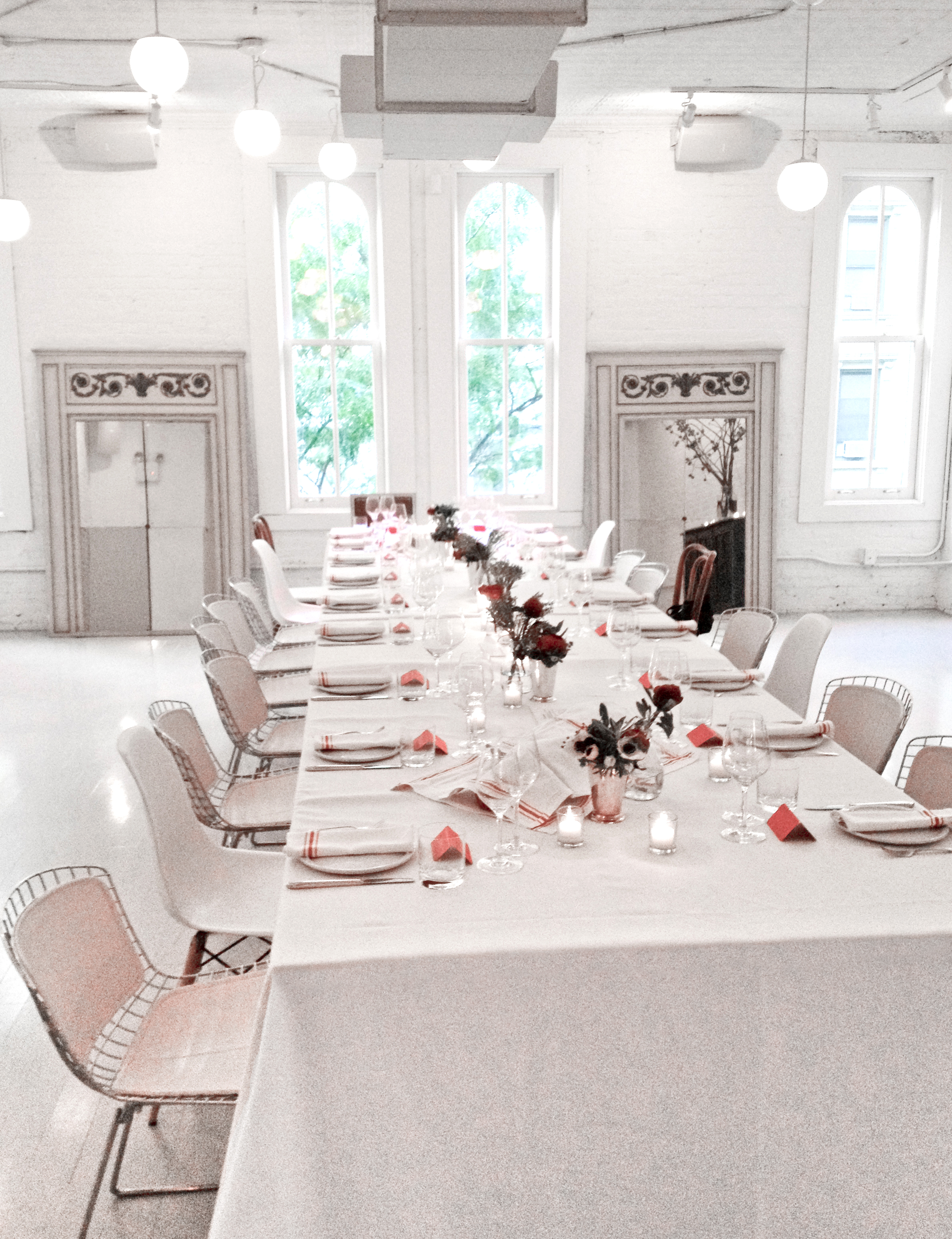The setting for our dinner at Haven's Kitchen, photo: Najwa Kronfel