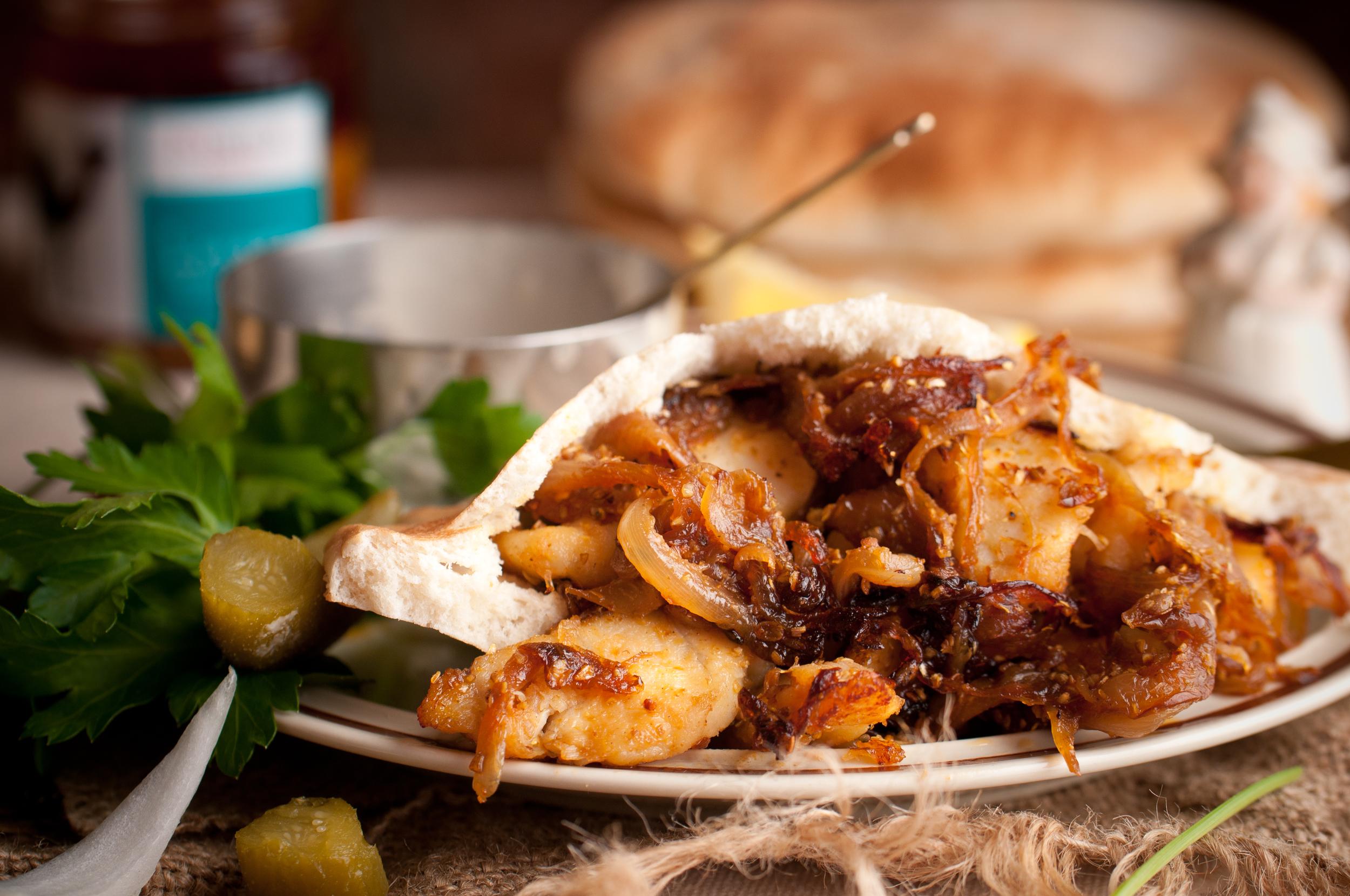 Monkfish Shawarma