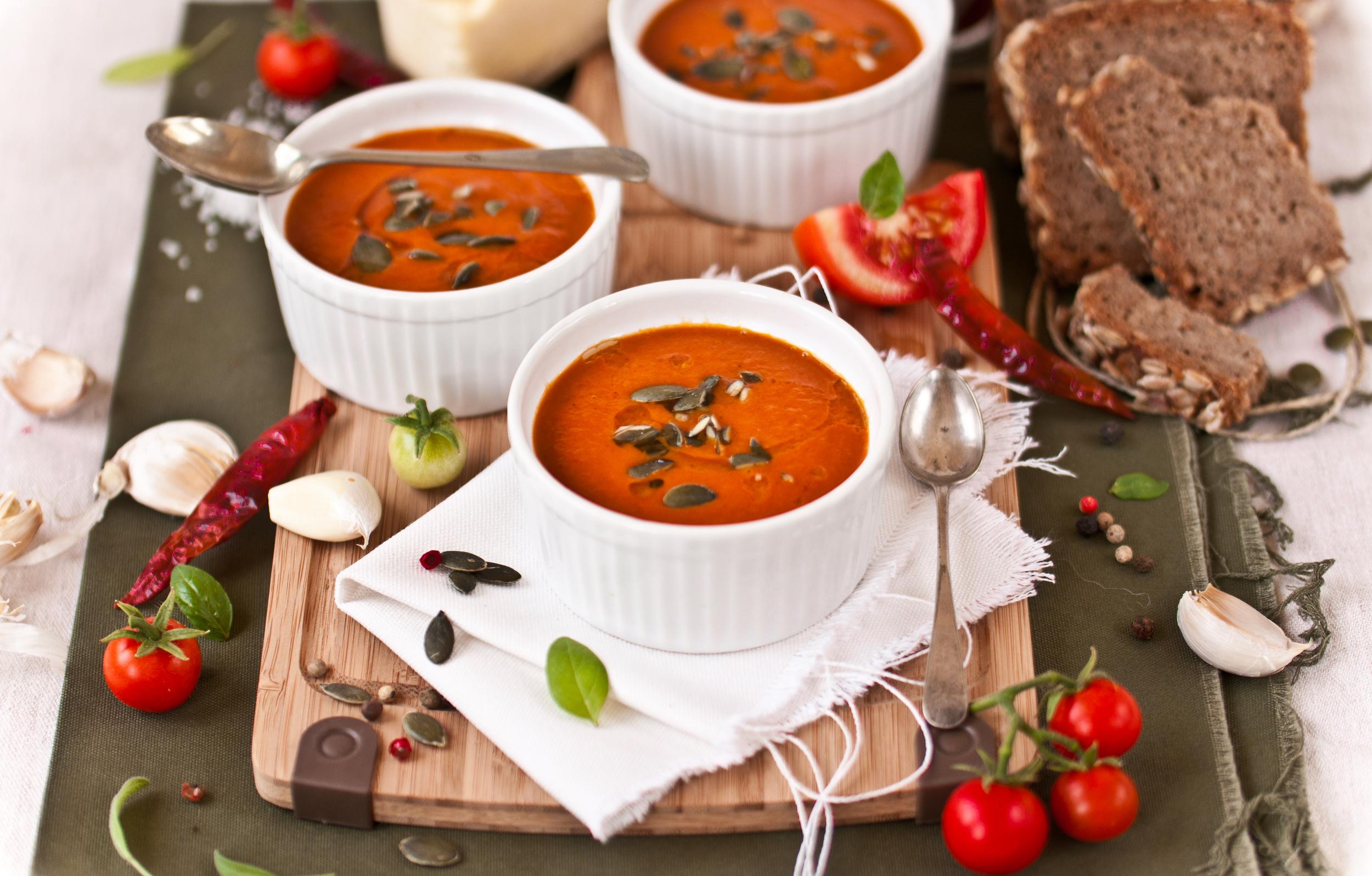 Roasted Tomato & Harissa Soup