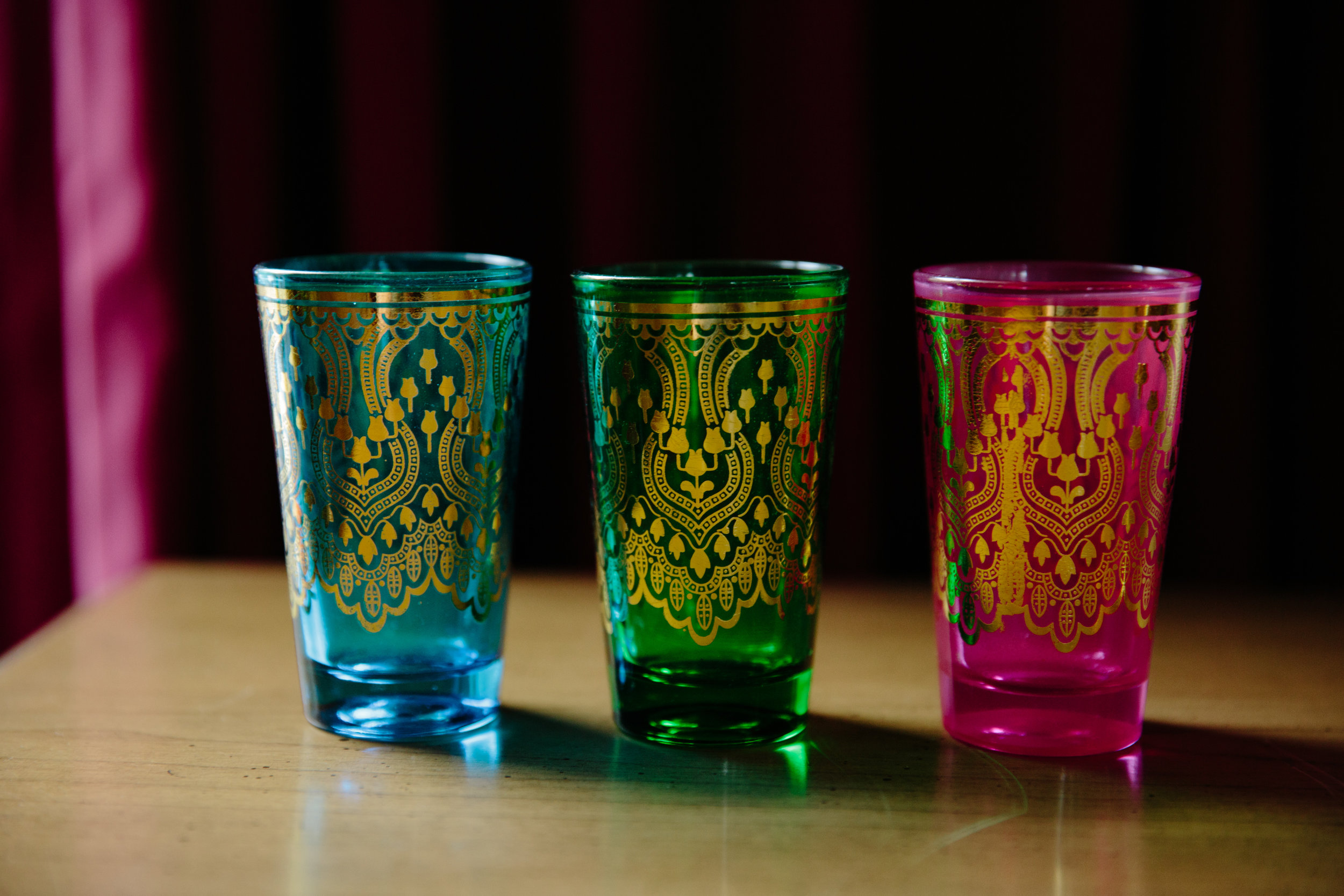 Color options for the moroccan tea glasses
