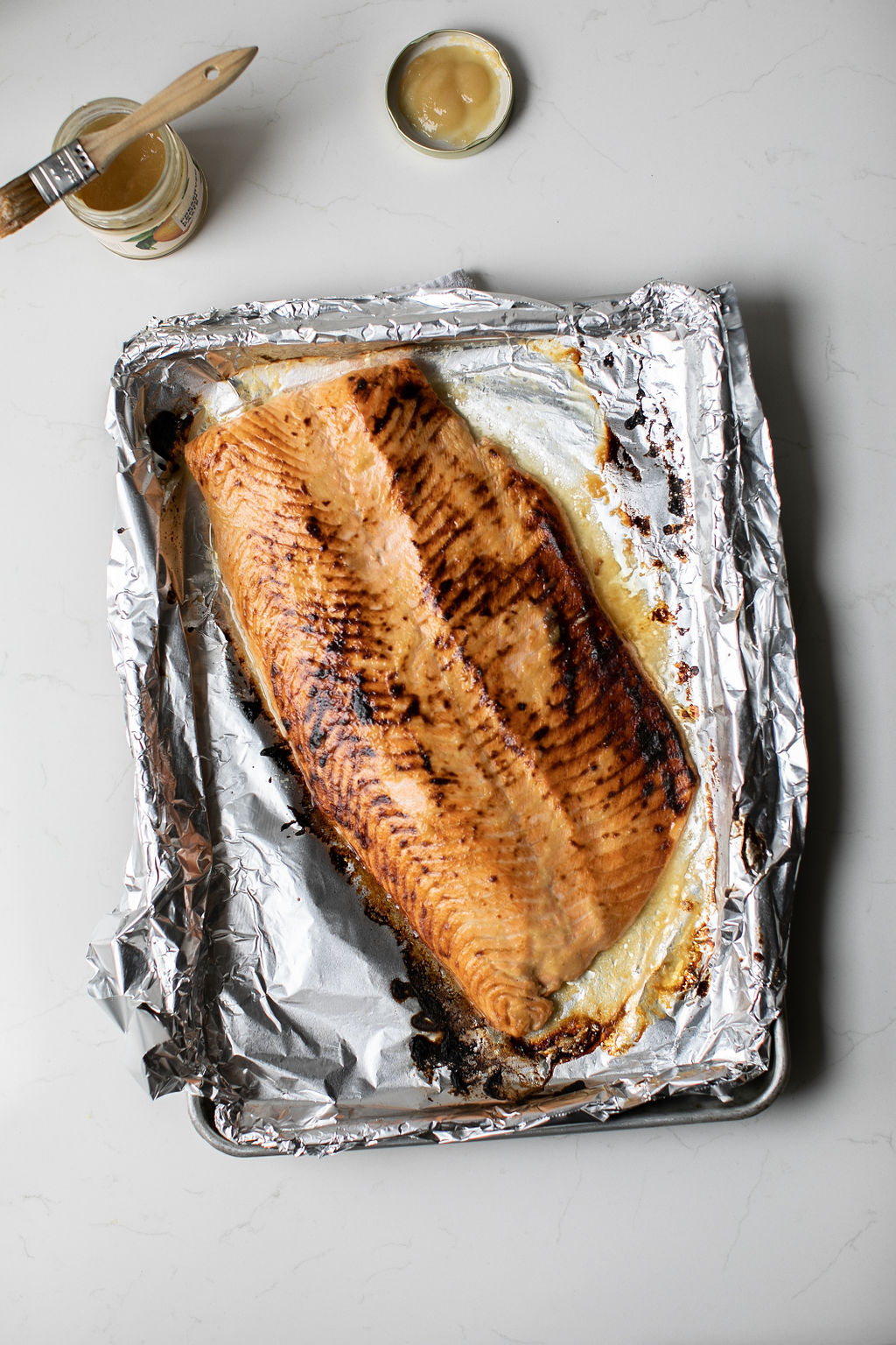Roasted Salmon with Preserved Lemon Paste