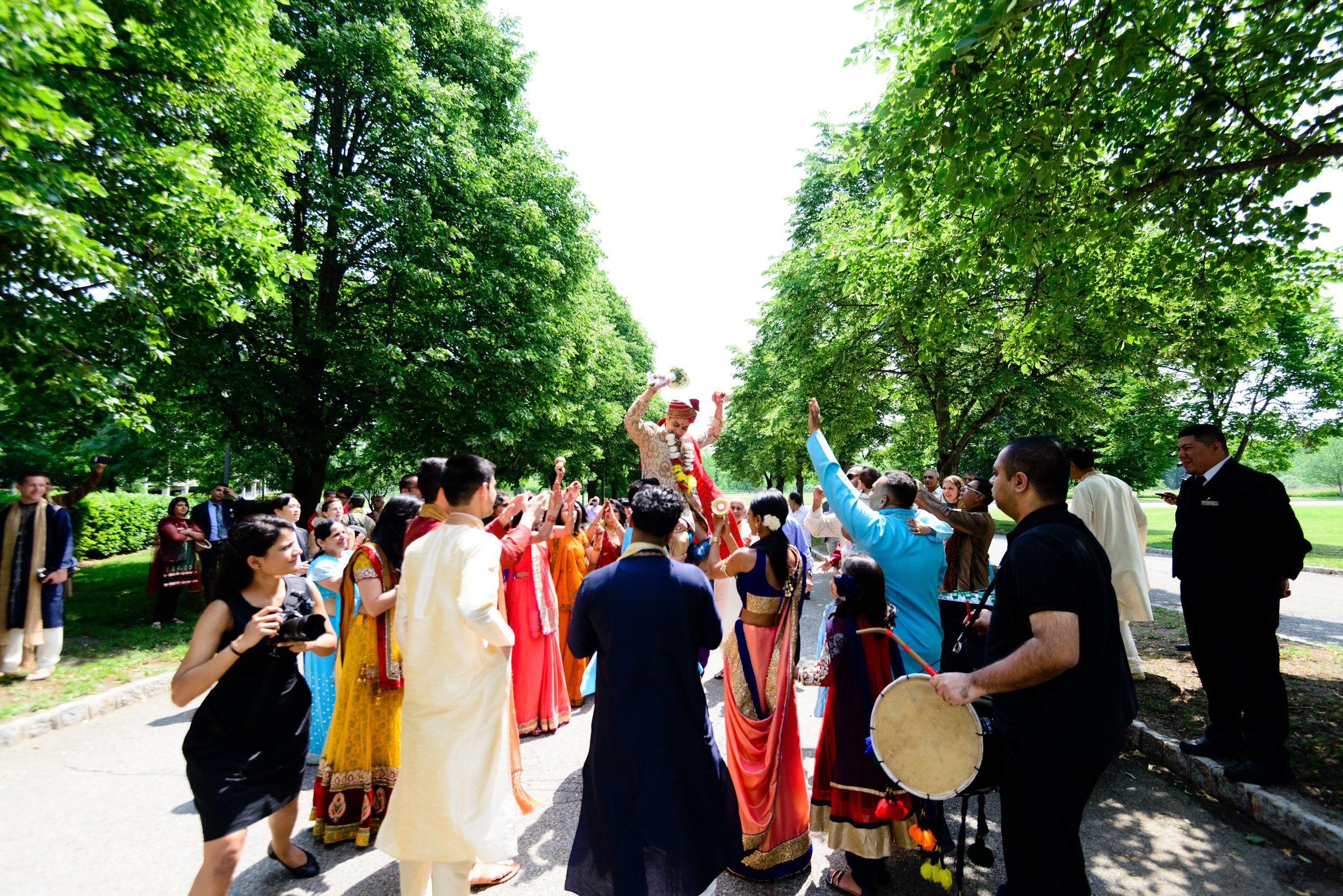 a very energetic and fun filled baraat at the sheraton. Band, baaja, baraat!