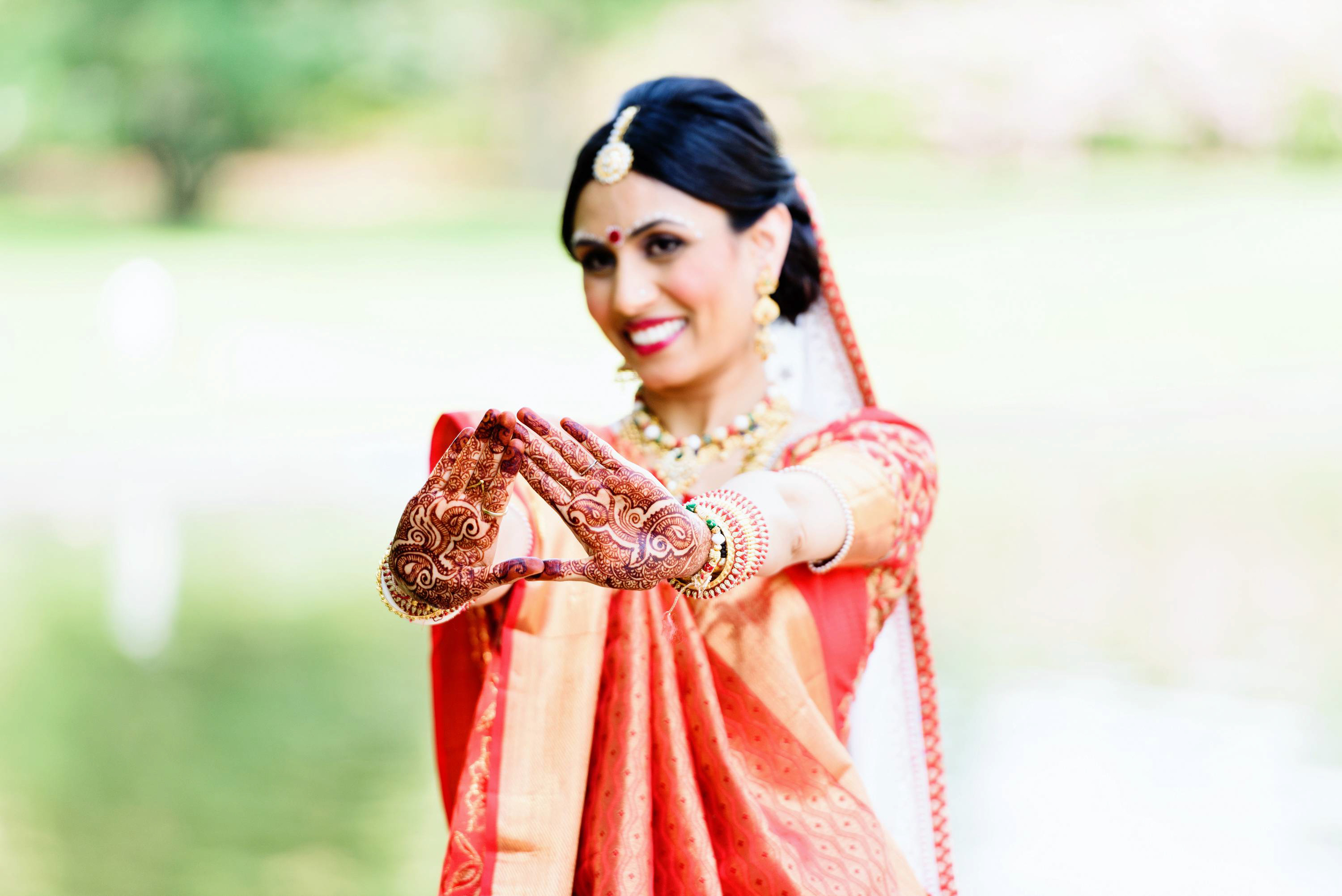 """Mehendi or """"henna"""" in simple terms is temporary tattoo. Mehendi is usually carried out night before the wedding along with singing songs. Tina & Hiren had their mehendi night at Sheraton mahwah in Nj."""