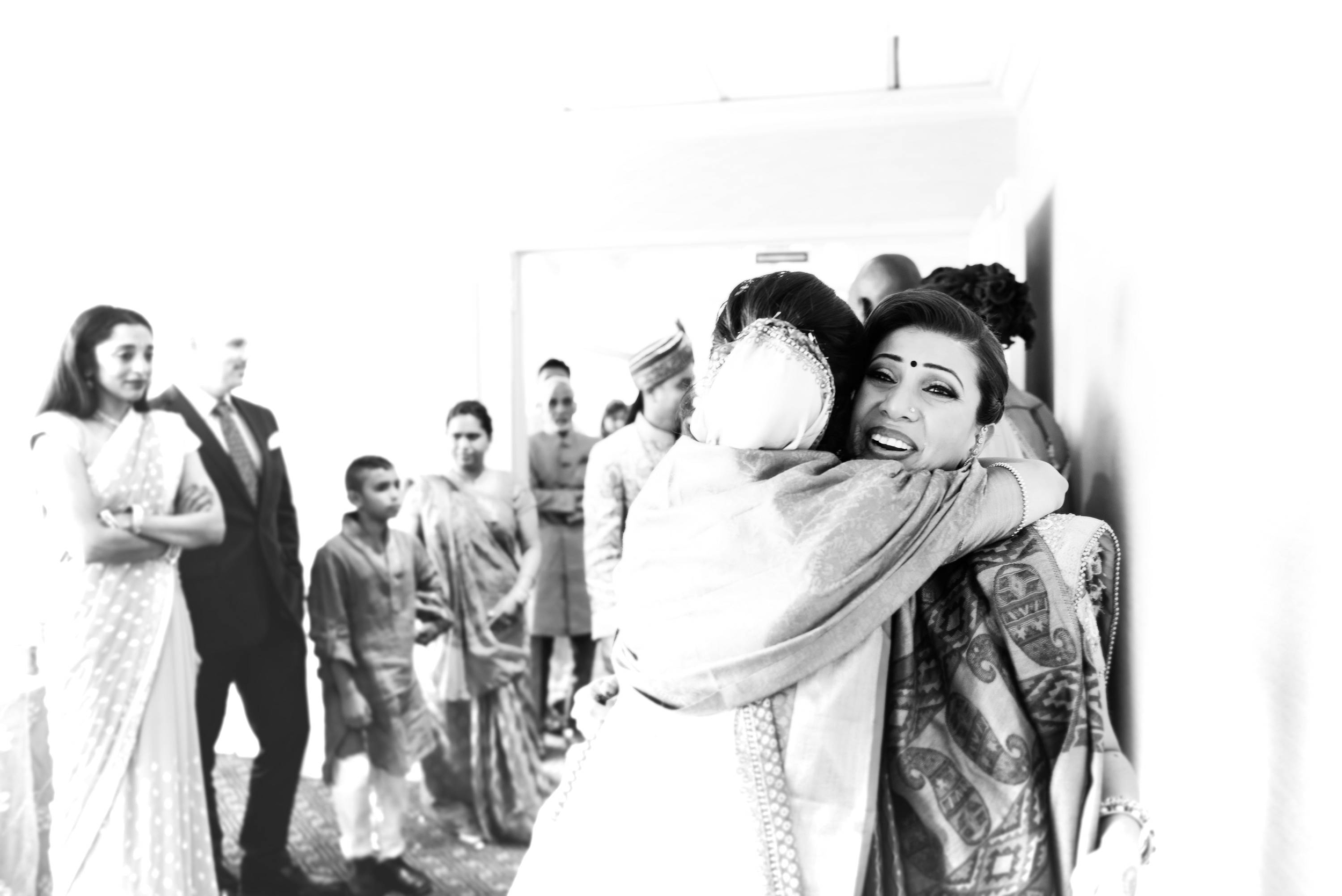 bidaai or wedding recessional is a very emotional moment during indian weddings. A moment we captured shared by the bride and bride's sister.