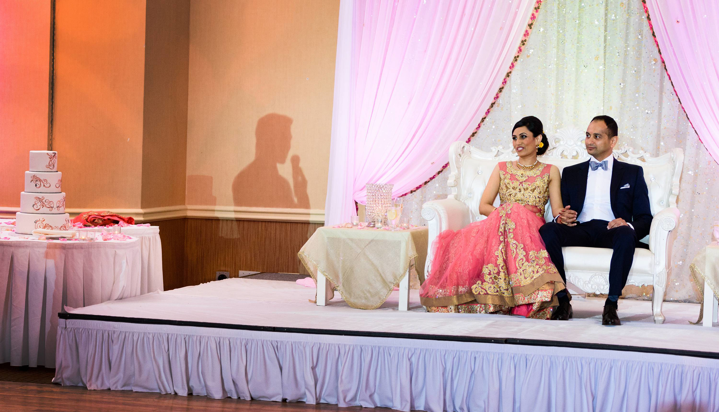 This was photographed during reception; bride's brother was giving a toasting speech. Photographing weddings with different & creative perspective is one of our main goals during wedding photography