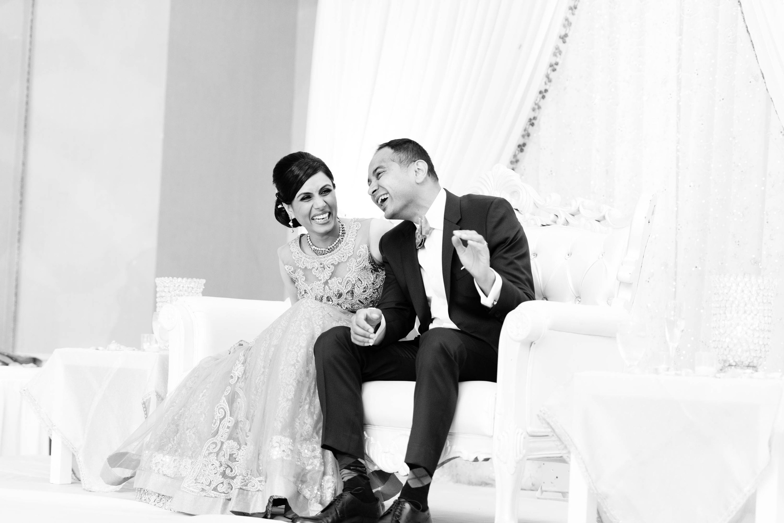 During speeches, groom's sister and his brother-in-law prepared a skit for our newly wedded couple in their reception. Our bride and groom had a blast during this skit & you can feel all the emotions