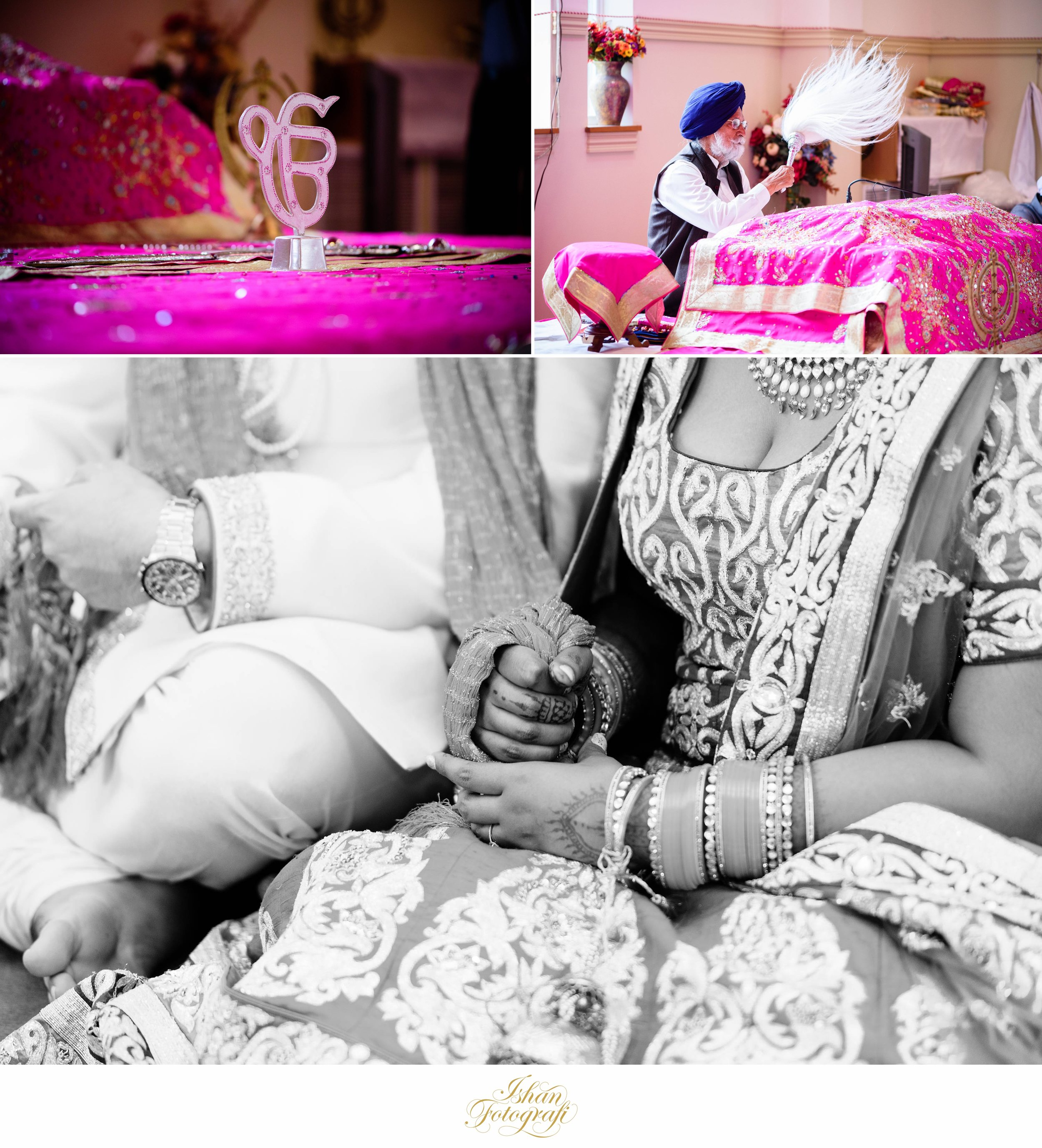 Traditional sikh weddings are full of colors.