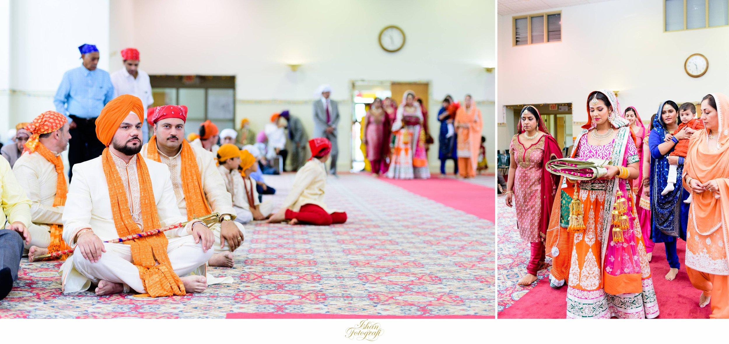A traditional sikh wedding in Pennsylvania gurdwara. This was a traditional south asian wedding.