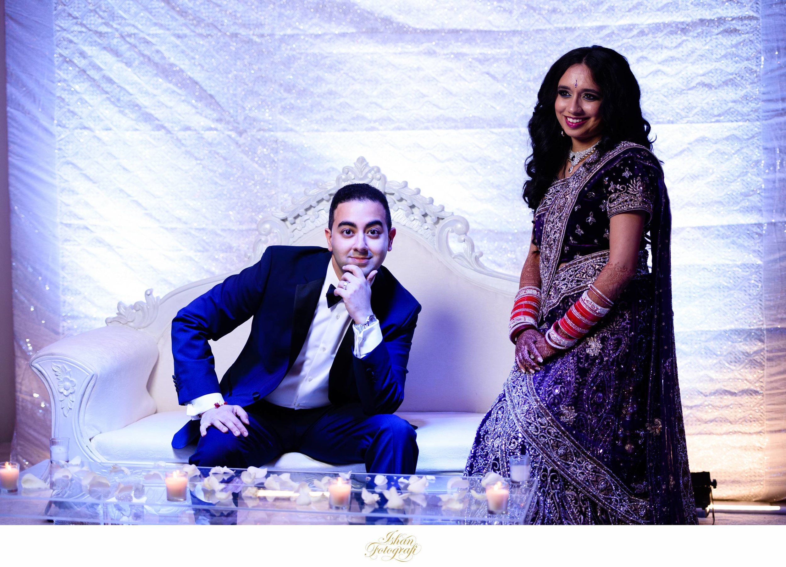 We always allocate enough time for portraits of the Bride and Groom at the center stage before the reception begins.