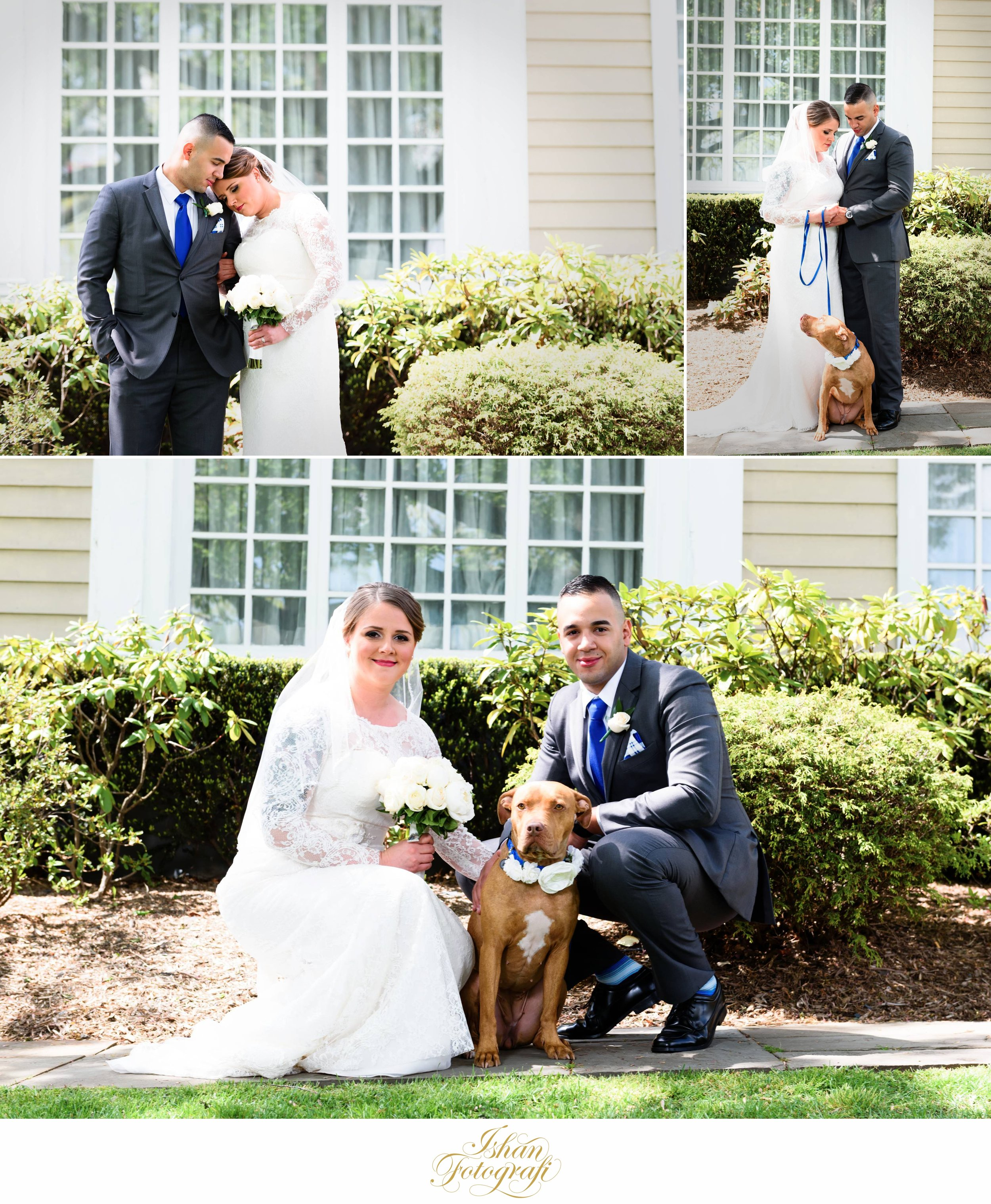Amanda & Jeffrey love their dog! They flew her from California which is where our bride & groom reside.How cute!
