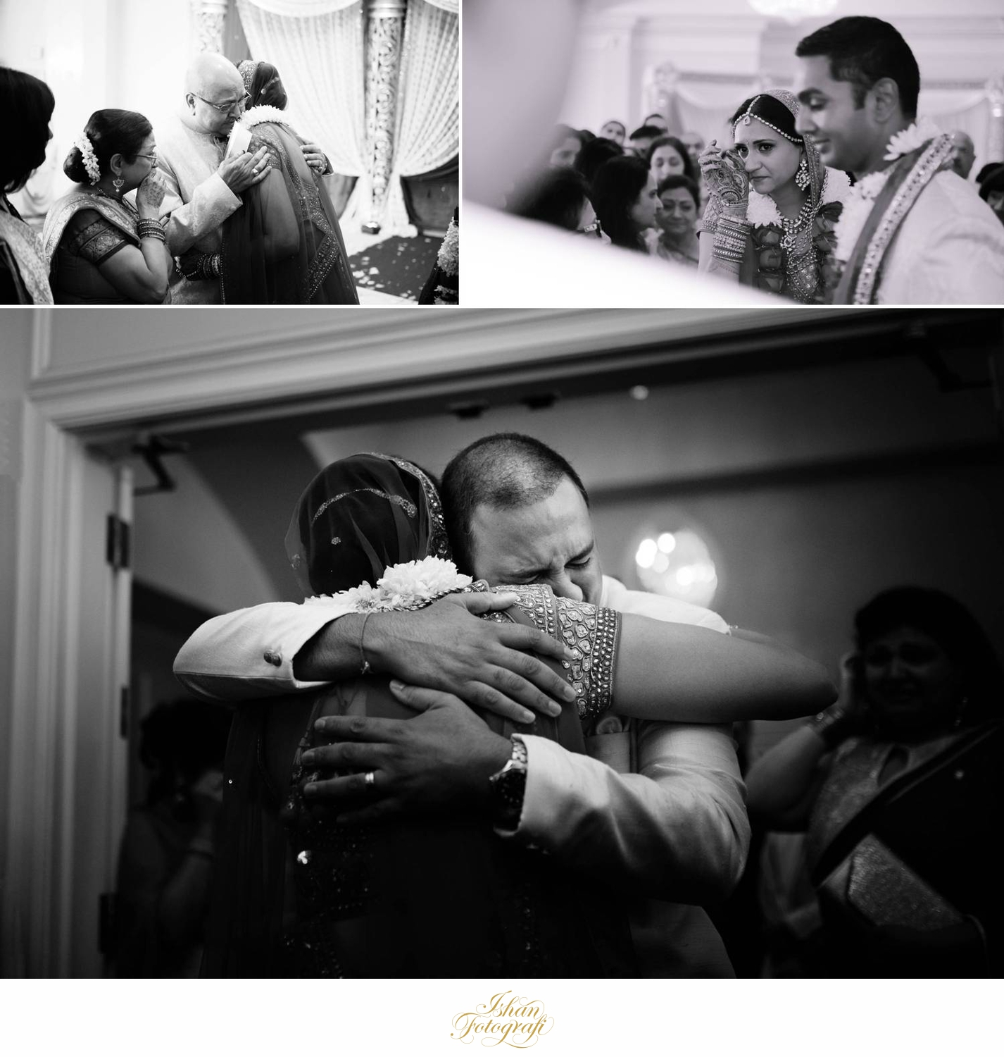 The father and brother of the bride during vidai. A very emotional vidai; a lot of love and tears in the room.
