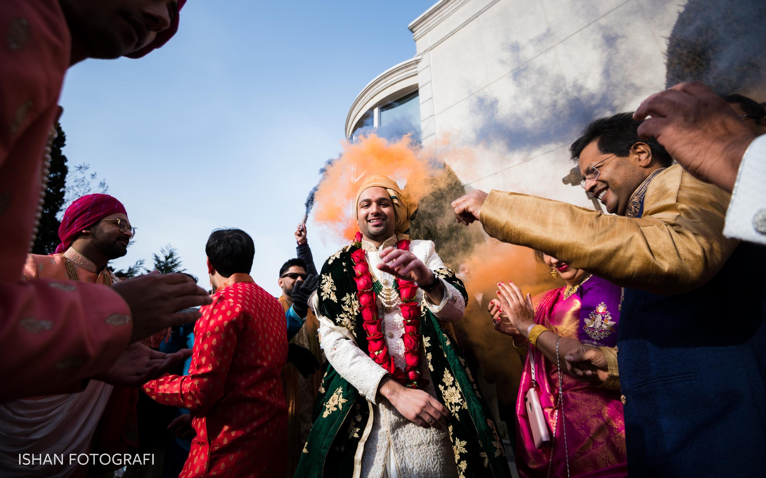 groom-baraat-photos-at-leonard's-palazzo