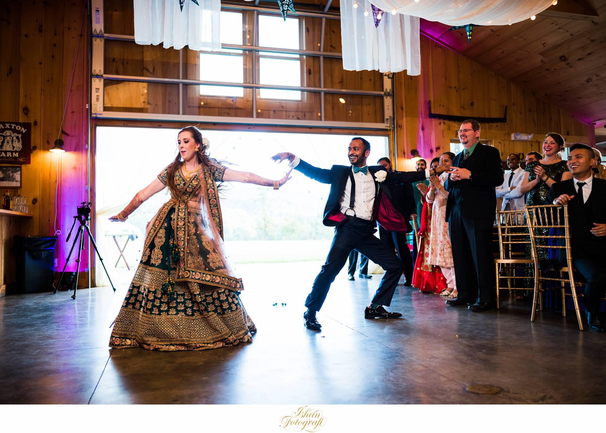 first-dance-at-Claxton-farm-NC