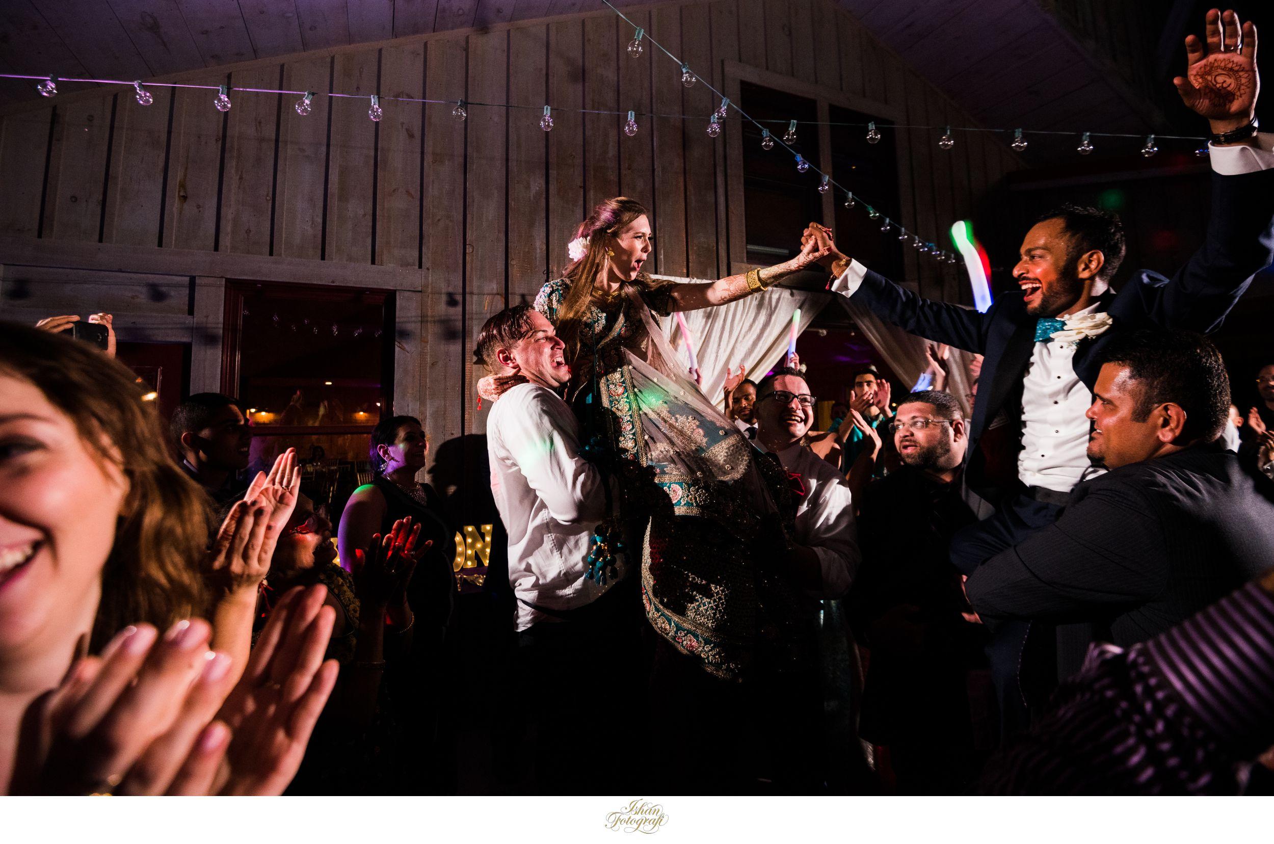bride-groom-wedding-reception-photos-at-claxton-farm-NC