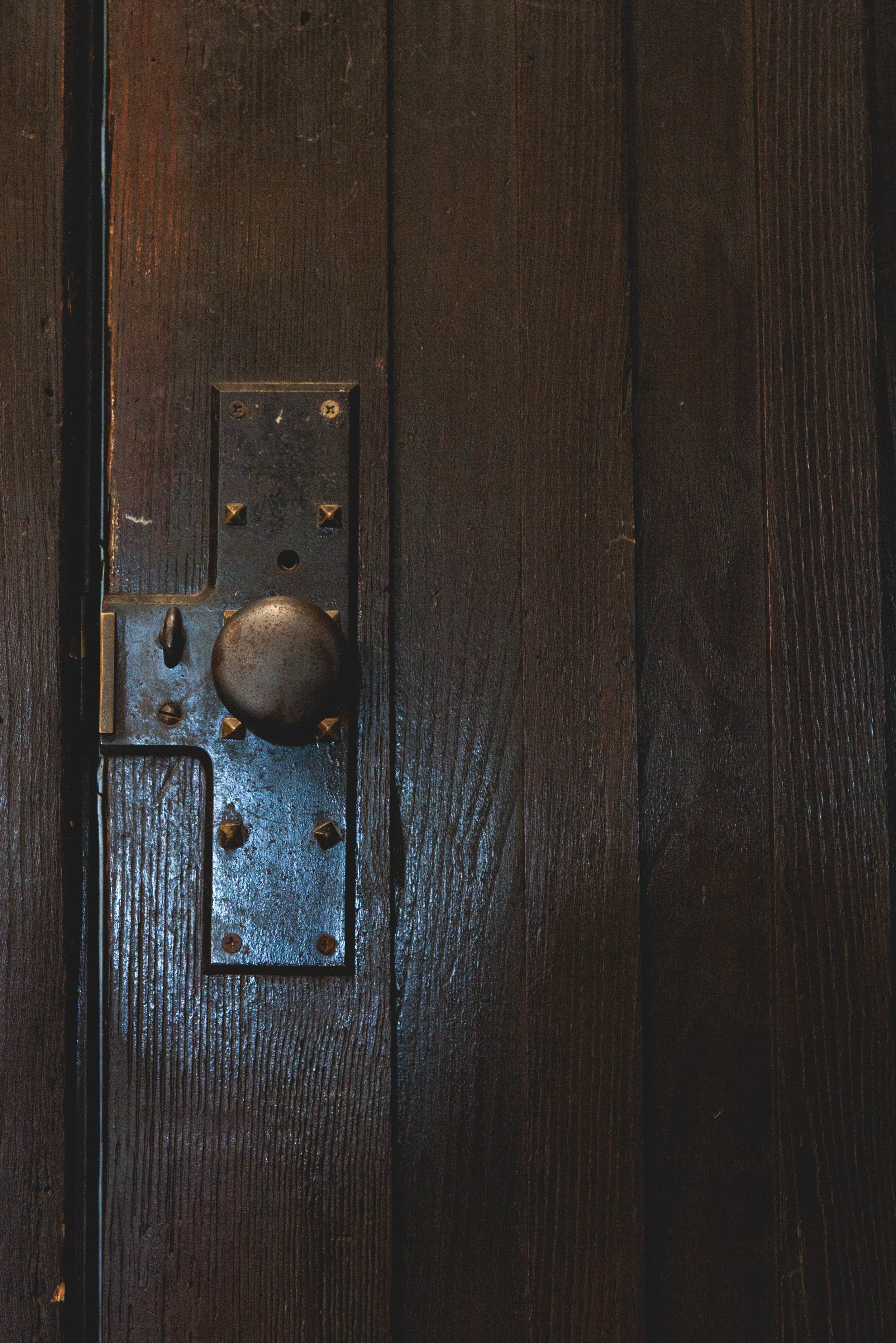 All of the doors are original. The house was built in 1920, so the doors are so substantial and the hardware is just so cool!