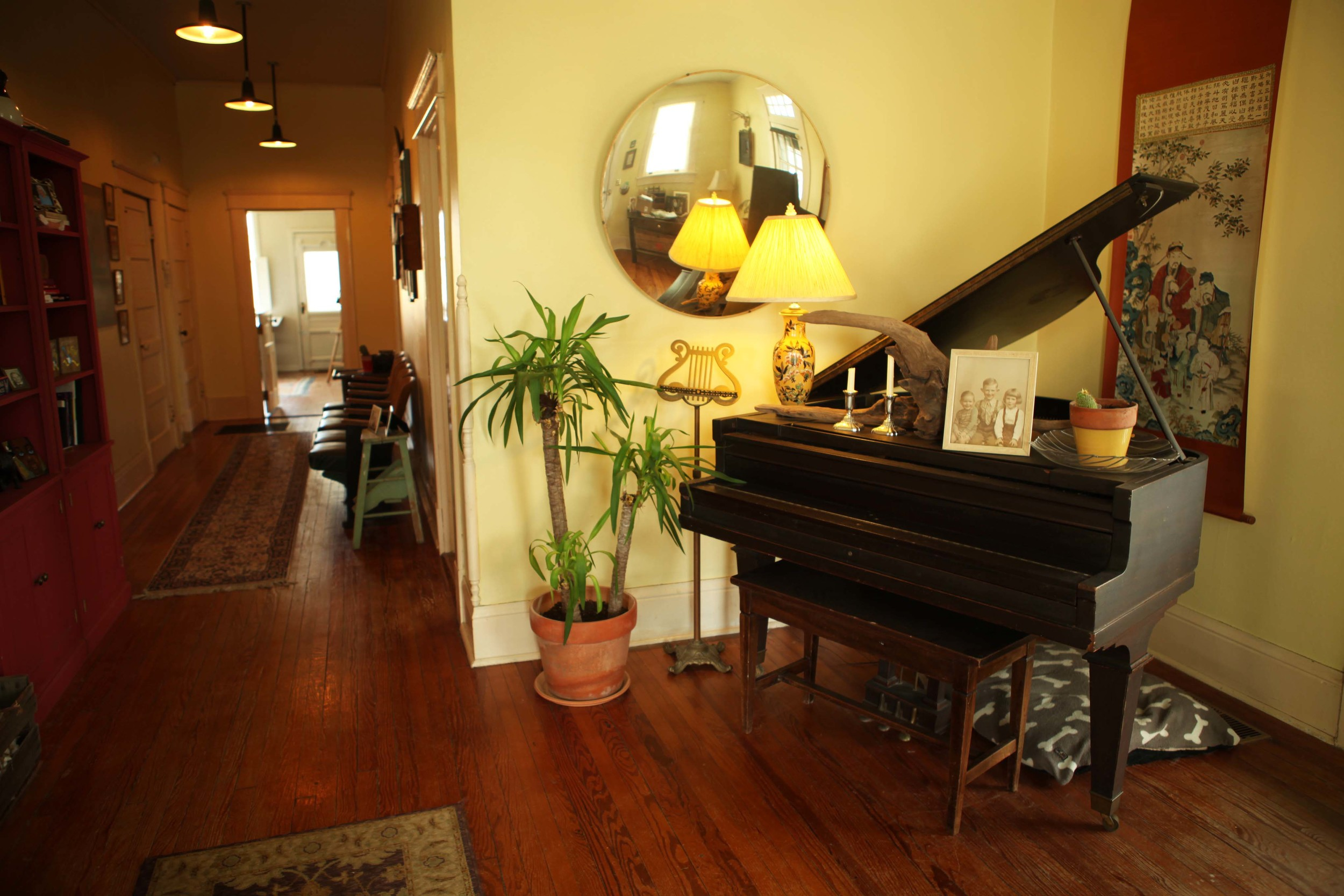 Our piano came with the home. We need to have it tuned and a few of the keys don't work, maybe now that we are having a child we will get it working so he can take piano lessons.