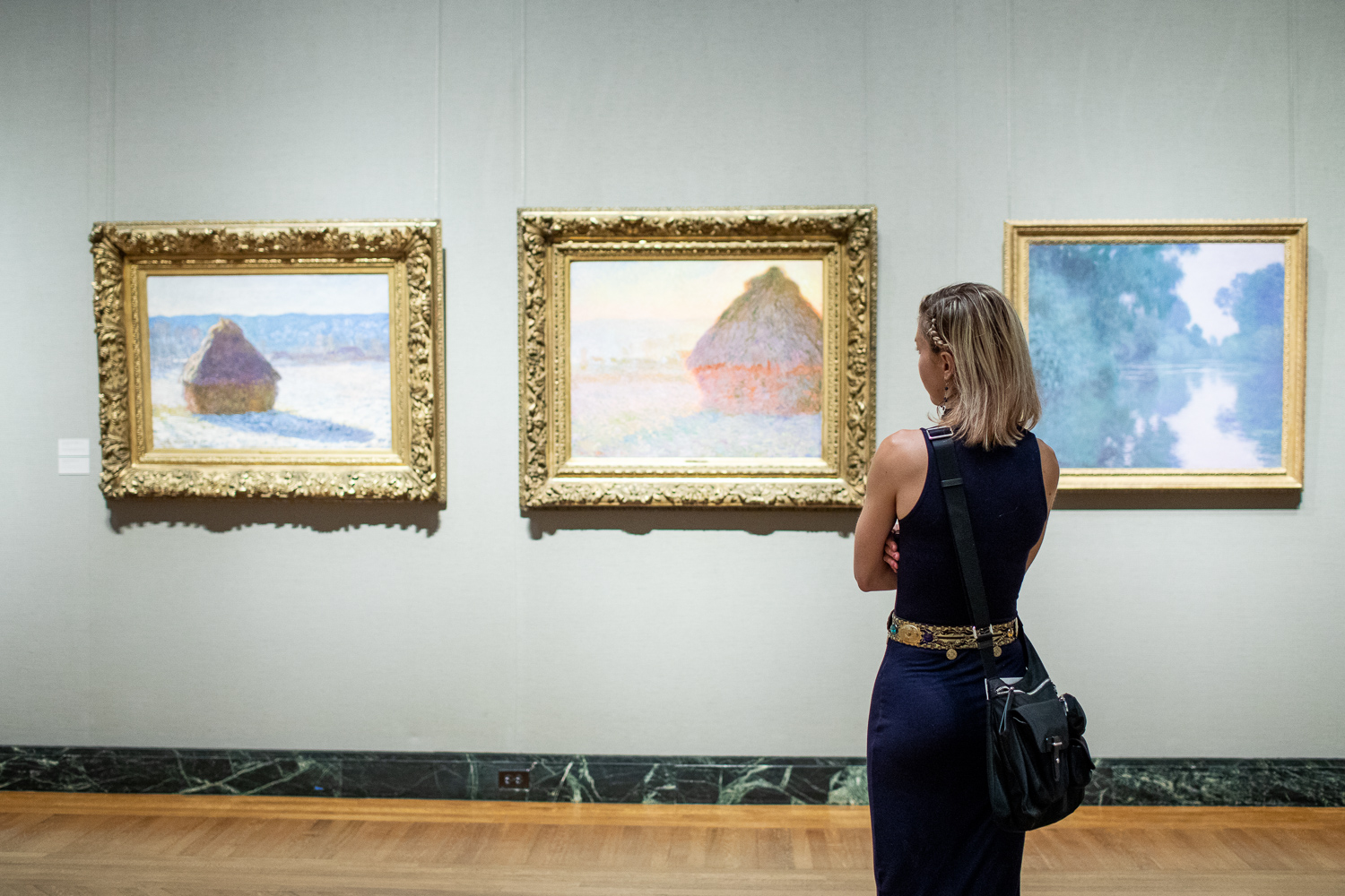 Observing Claude Monet's   Haystacks   series.