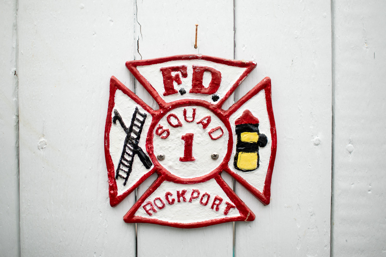 Detail from a house on Atlantic Avenue. I suppose one of the men working for Rockport's Fire Department lives here.