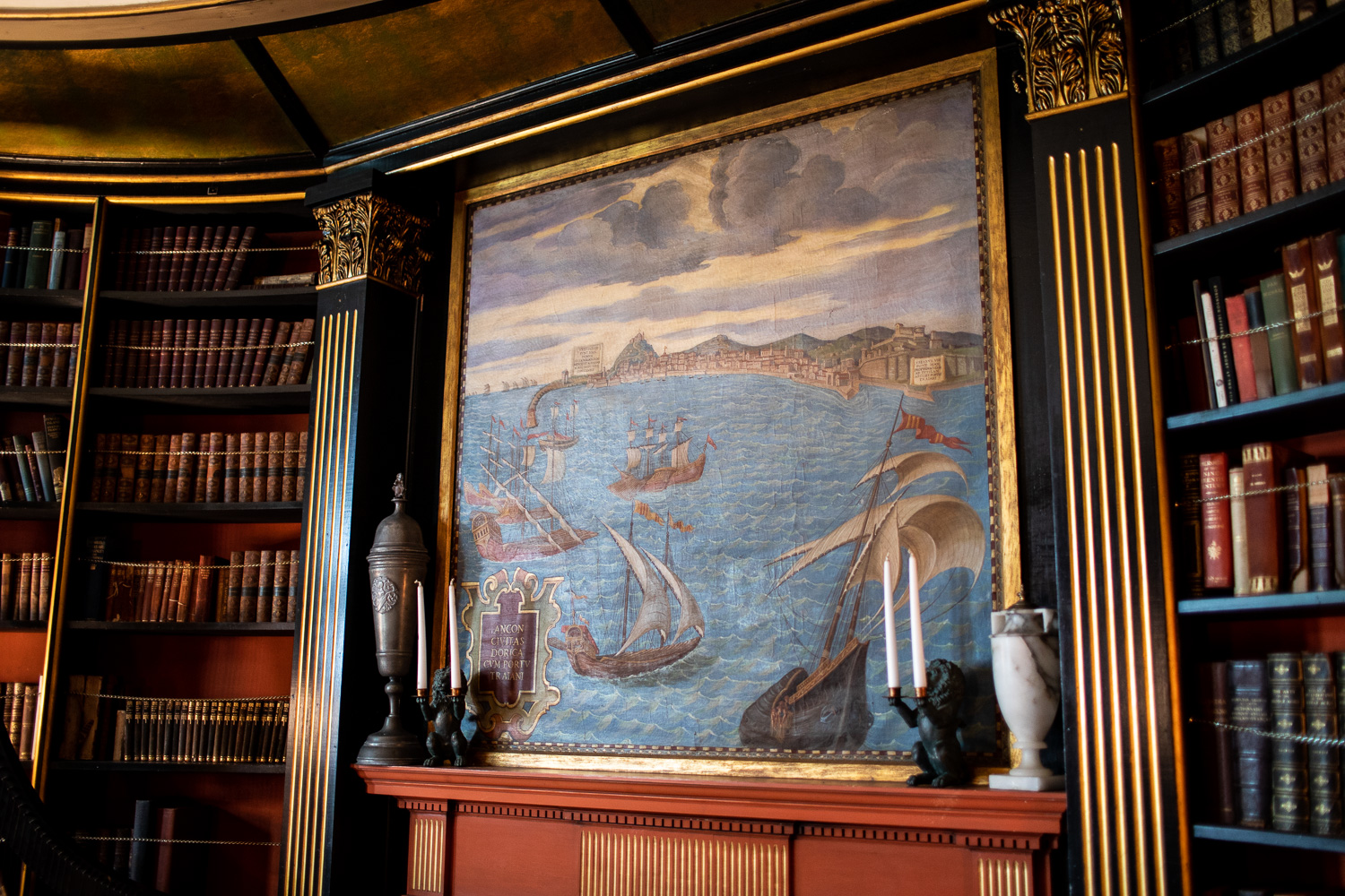 Detail from the library room.