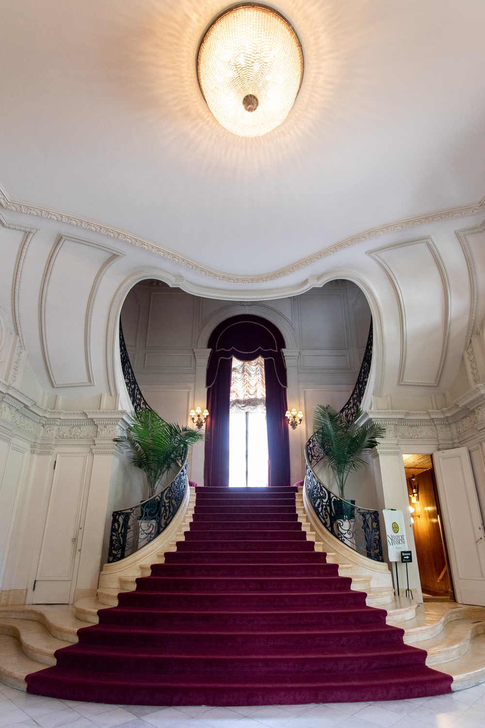 Another view of the grand staircase at Rosecliff.