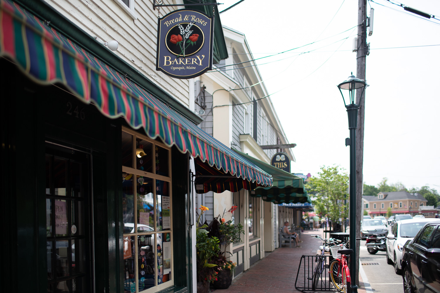 The Bread & Roses Bakery  in downtown Ogunquit. Recommended stop for tasty treats and/or coffee.