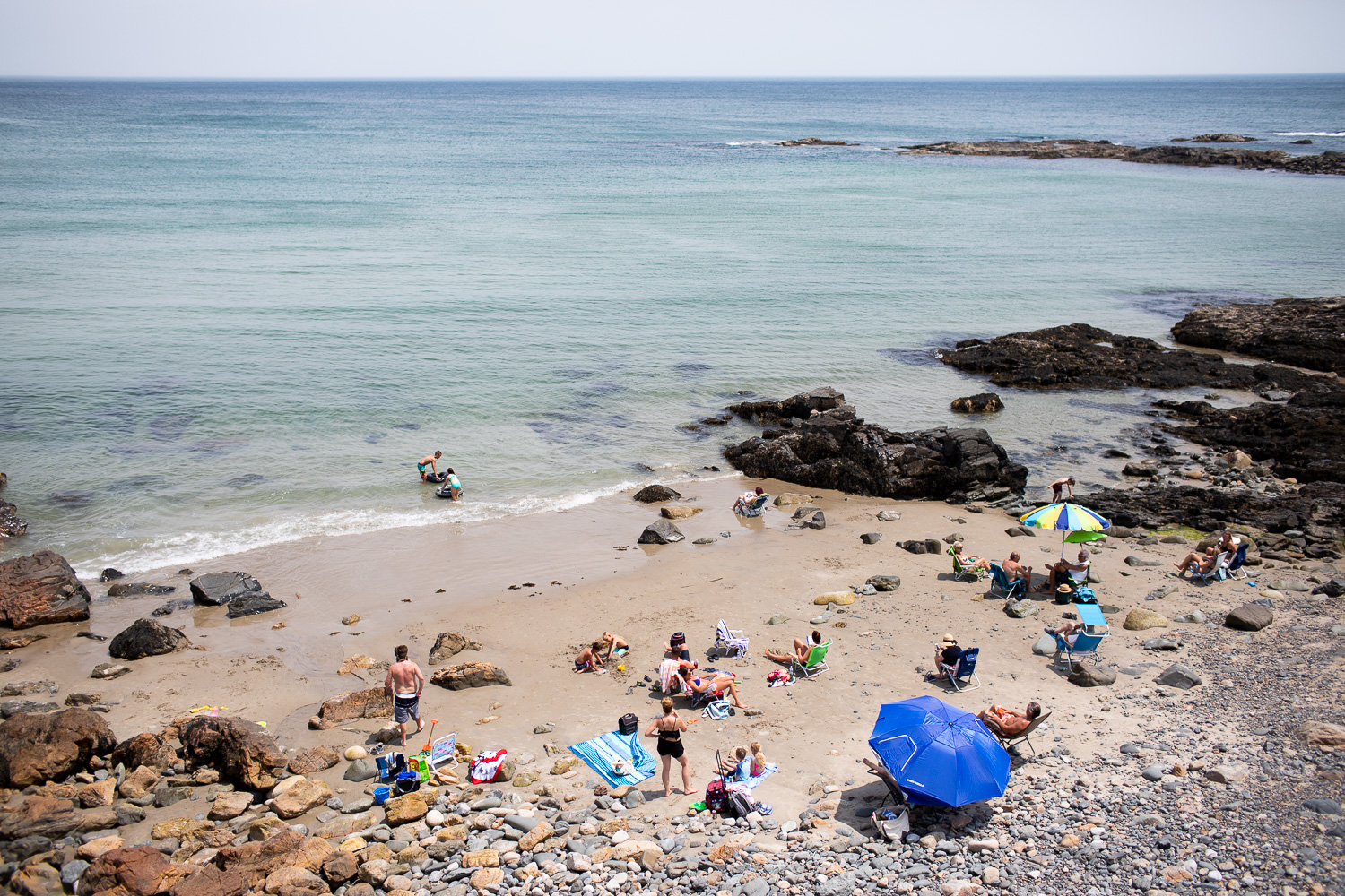 "If you want to avoid the hustle and bustle of central Ogunquit Beach, head about a half mile on Marginal Way to discover this ""secret"" beach."