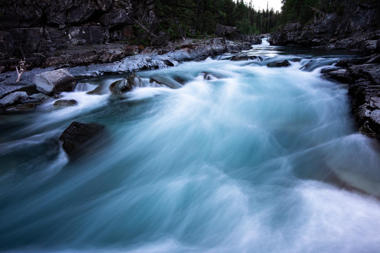 Avalanche Creek in Glacier National Park.