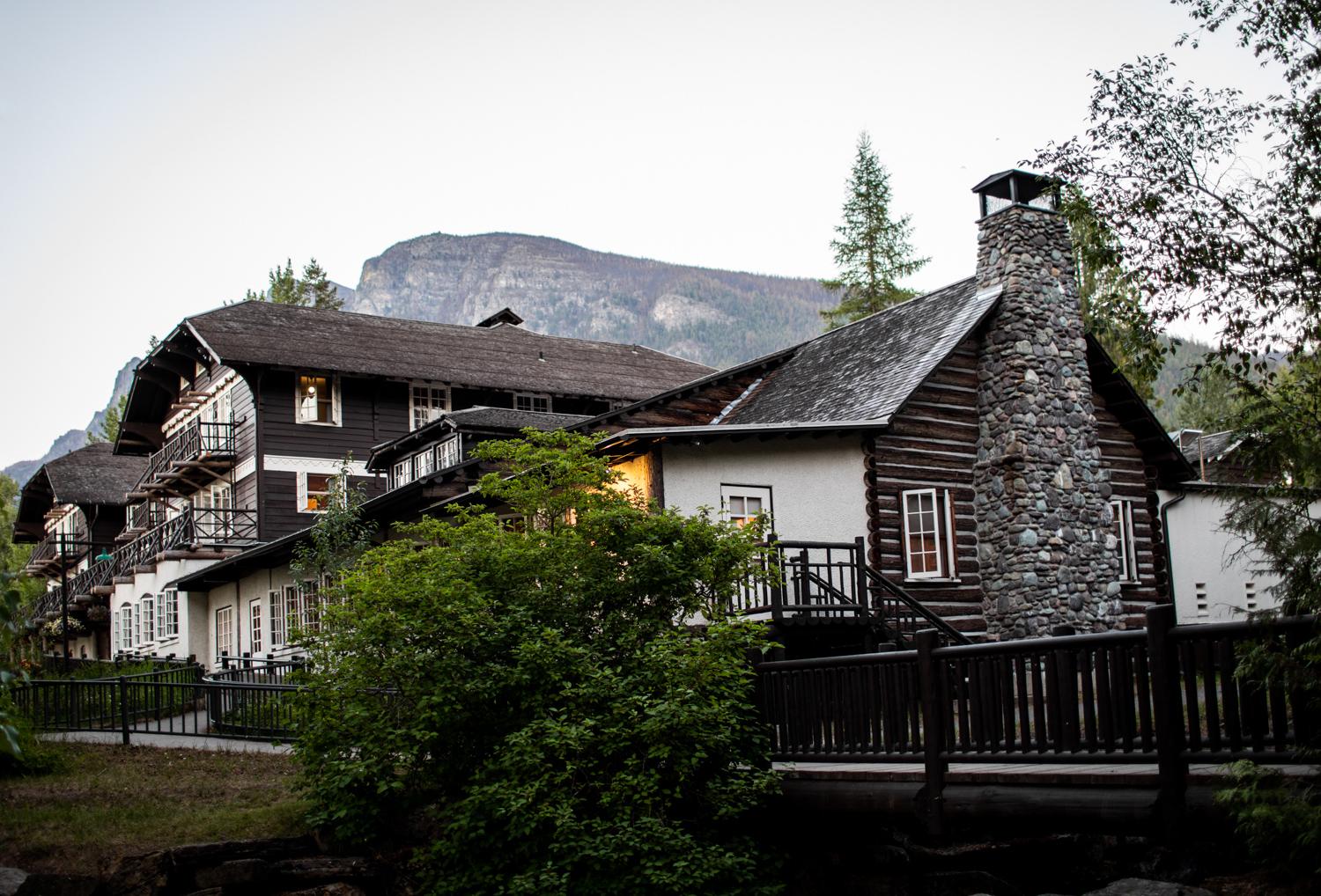 Home for the night: Lake McDonald Lodge.