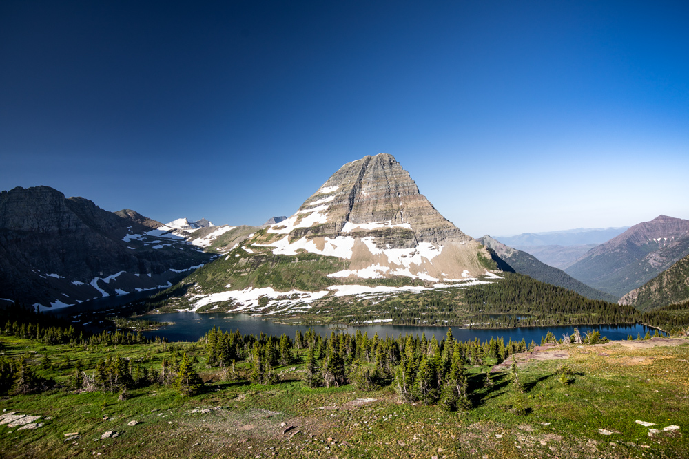 View of Hidden Lake and Bearhat Mountain.