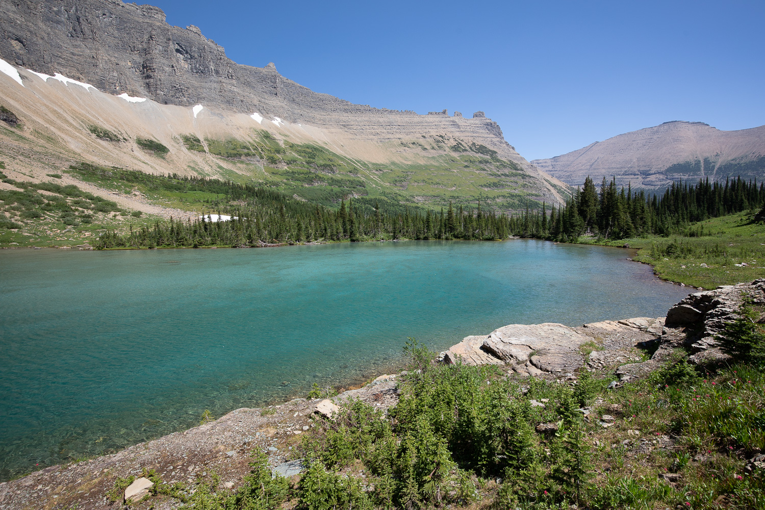 Views of the unnamed lake.