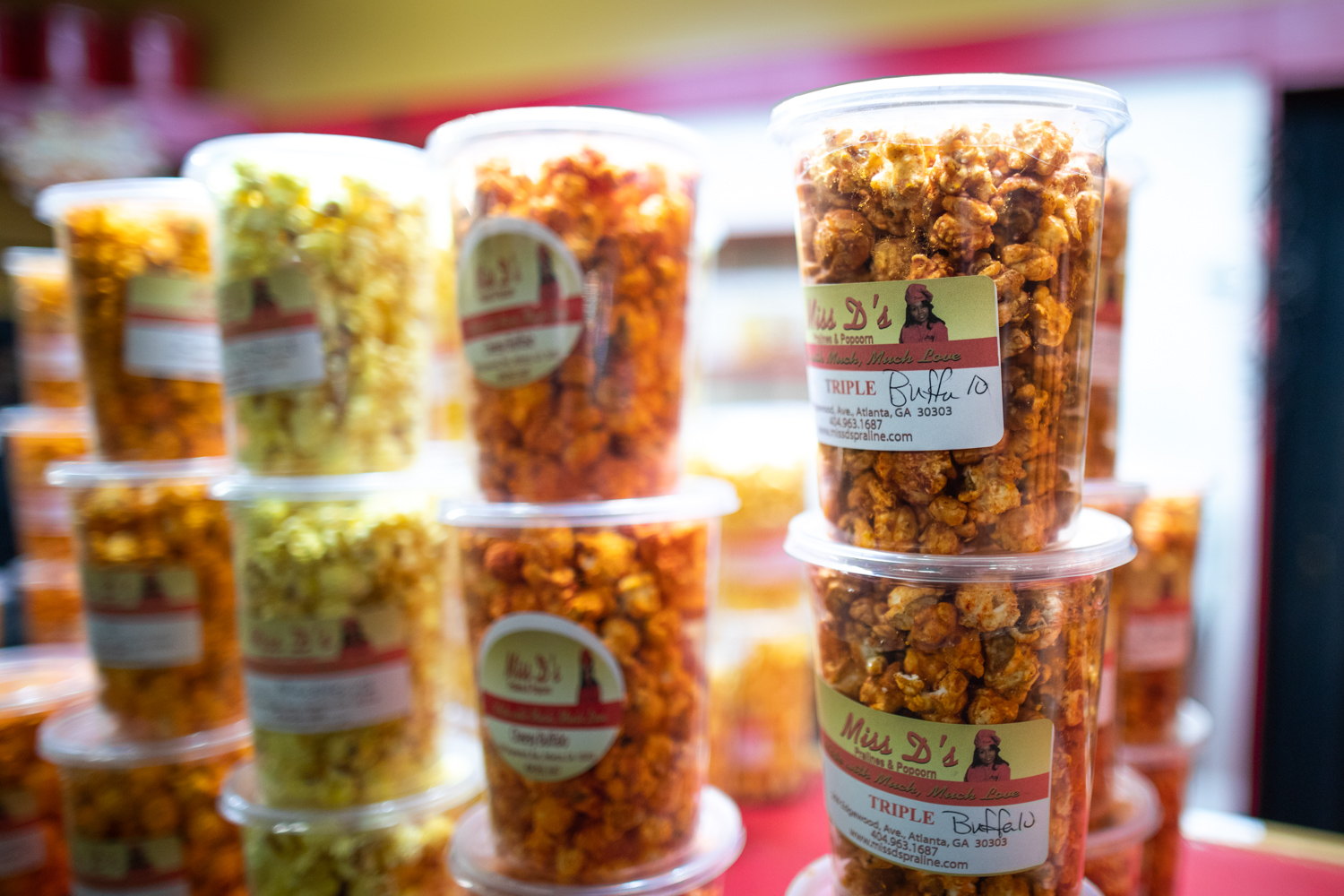 "Miss D's  famous popcorn. Listen to the episode to find out what makes the ""Triple"" so popular. (It's delicious!)"