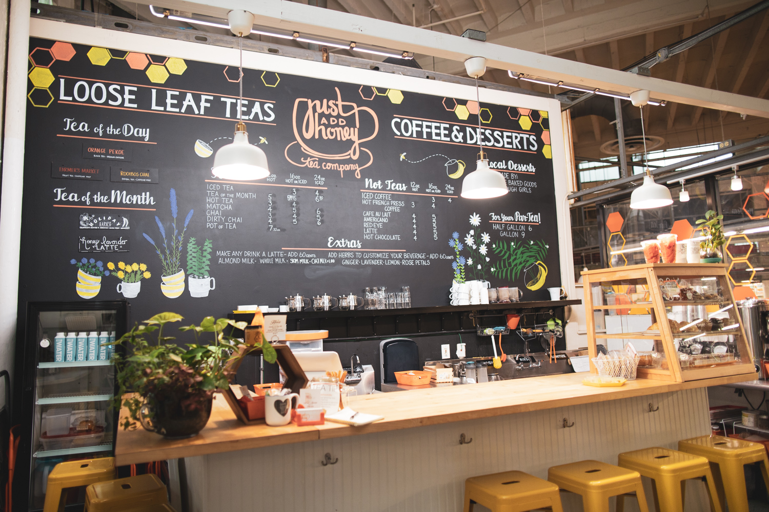 Inside the  Just Add Honey Tea Company  shop. Note: they also serve coffee.