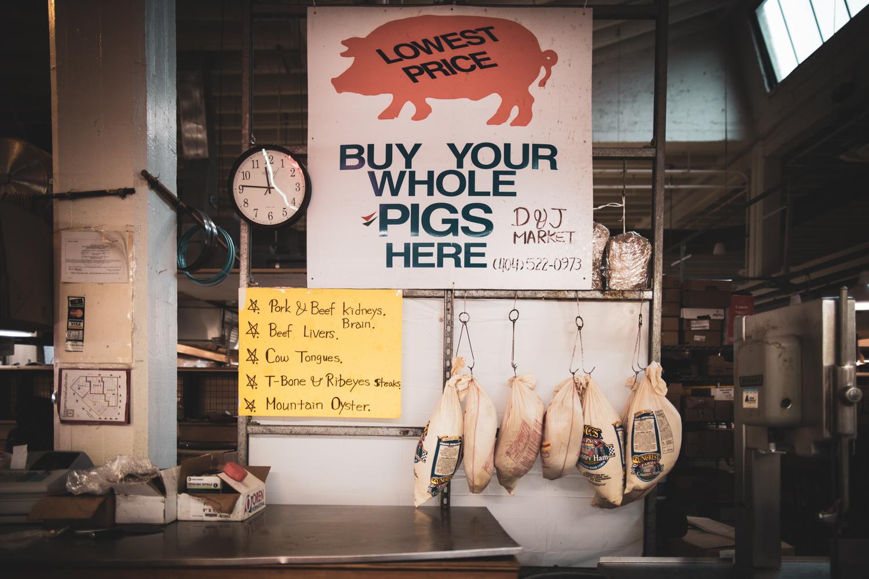 A scene from the Sweet Auburn Curb Market in downtown Atlanta, GA.