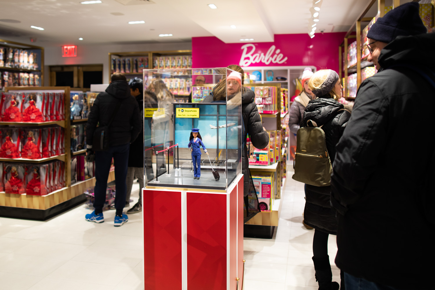 The Barbie display at FAO Schwarz in Manhattan.