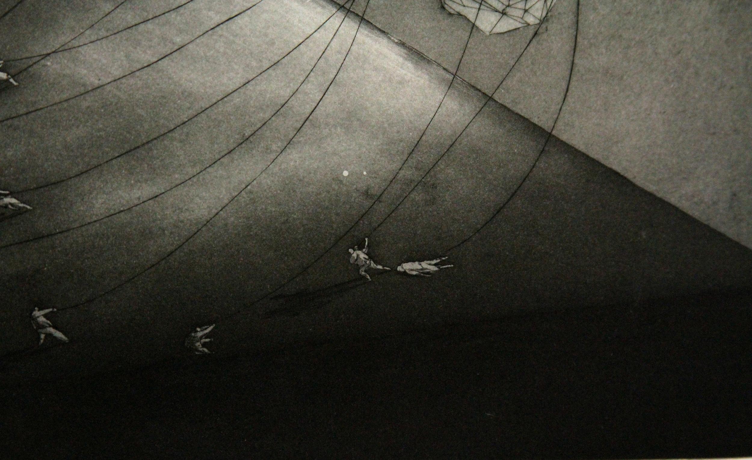 The innumerable struggle beneath this distant burden. (Detail)