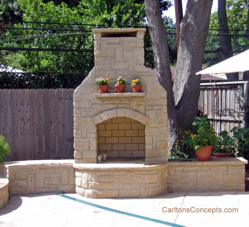 Outdoor Fireplaces Design And Construction Carlton S Concepts