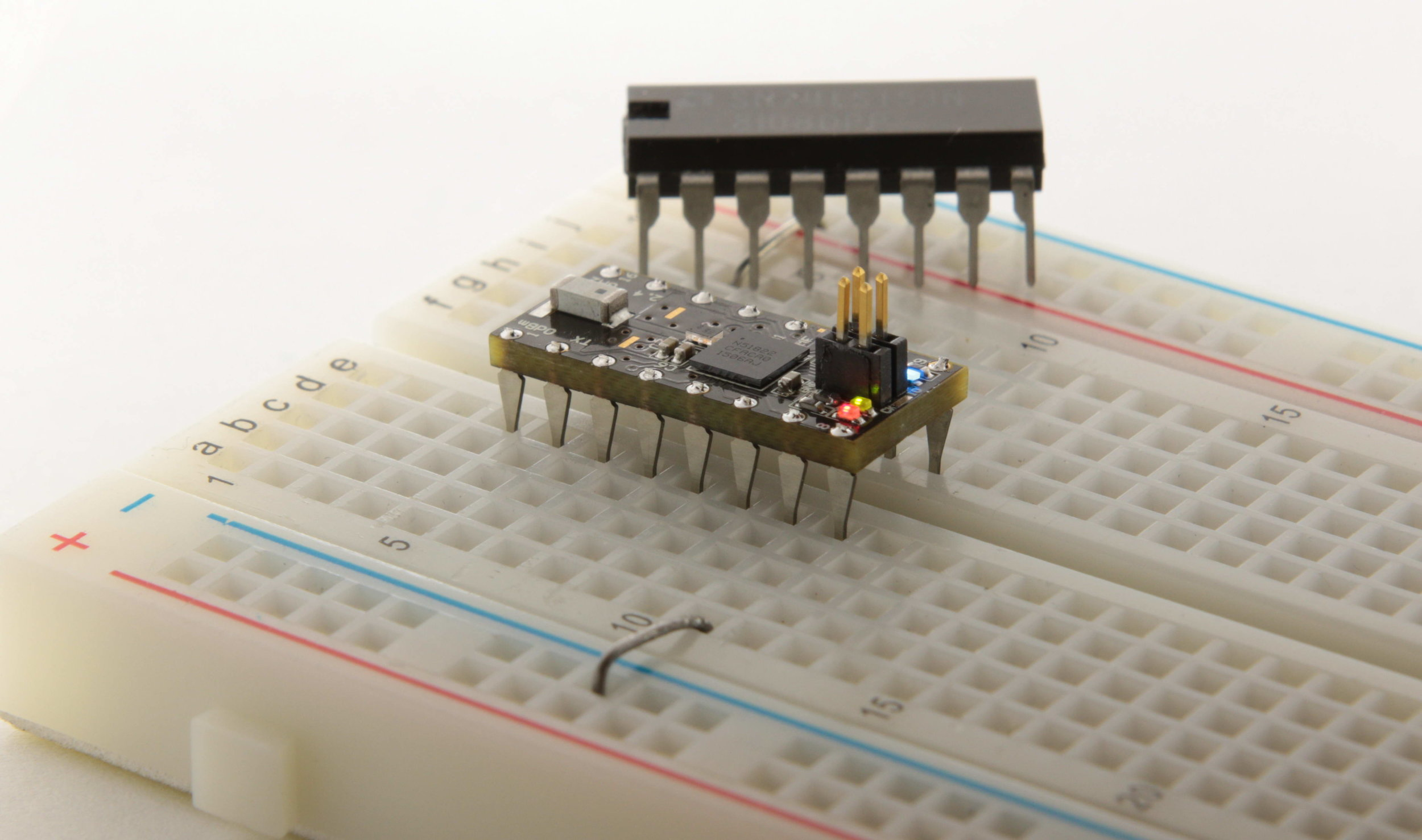 OSHChip on a breadboard