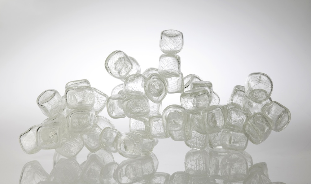 Lapis Calcarius , 2013. Blown and hot joined glass. 450x450x900mm  Image: Michael Haines