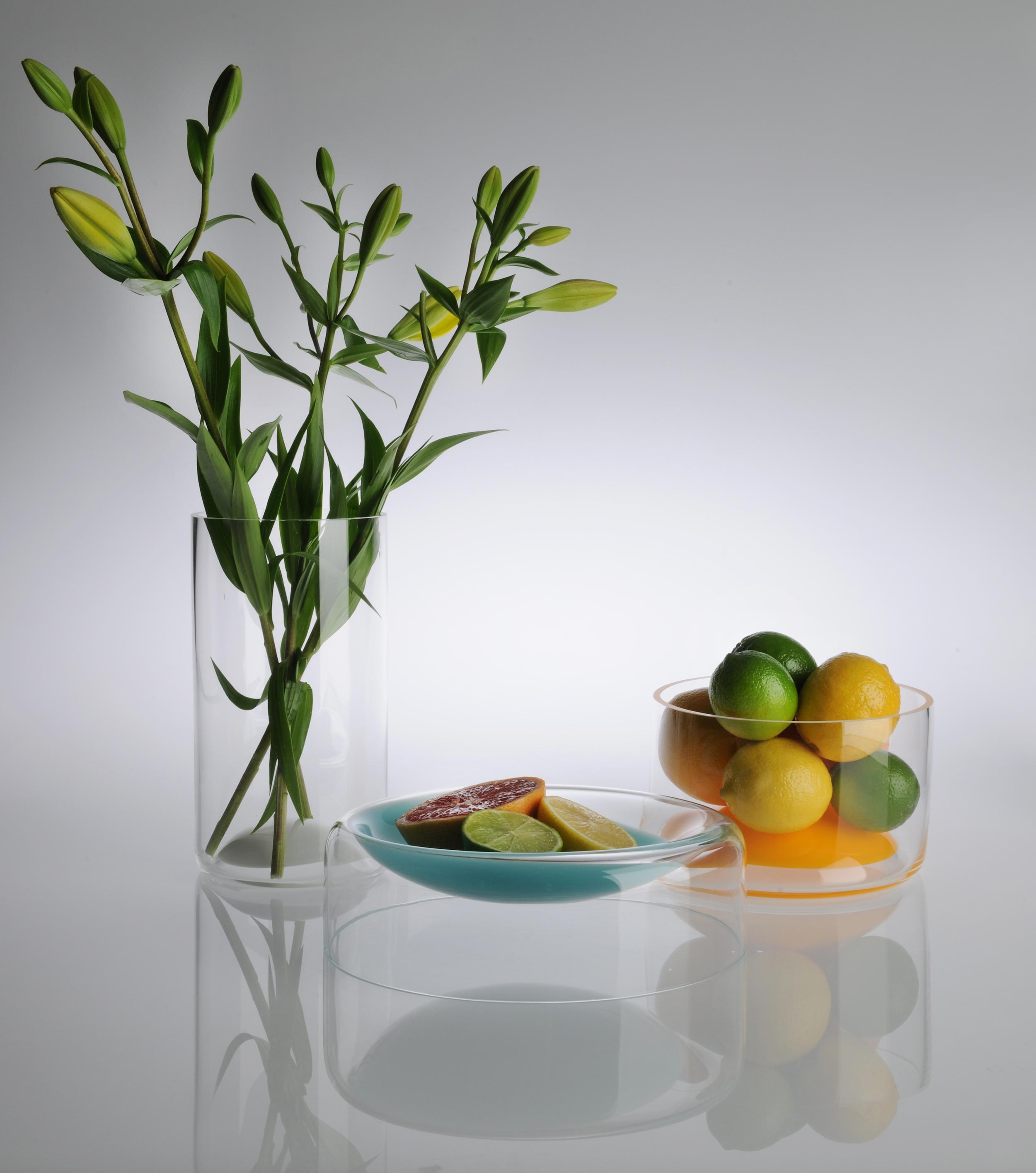 White Suspension Vase (RRP:$242.00), Blue Suspension Bowl (RRP:342.00) and Orange Medium Suspension Bowl (RRP: 242.00)
