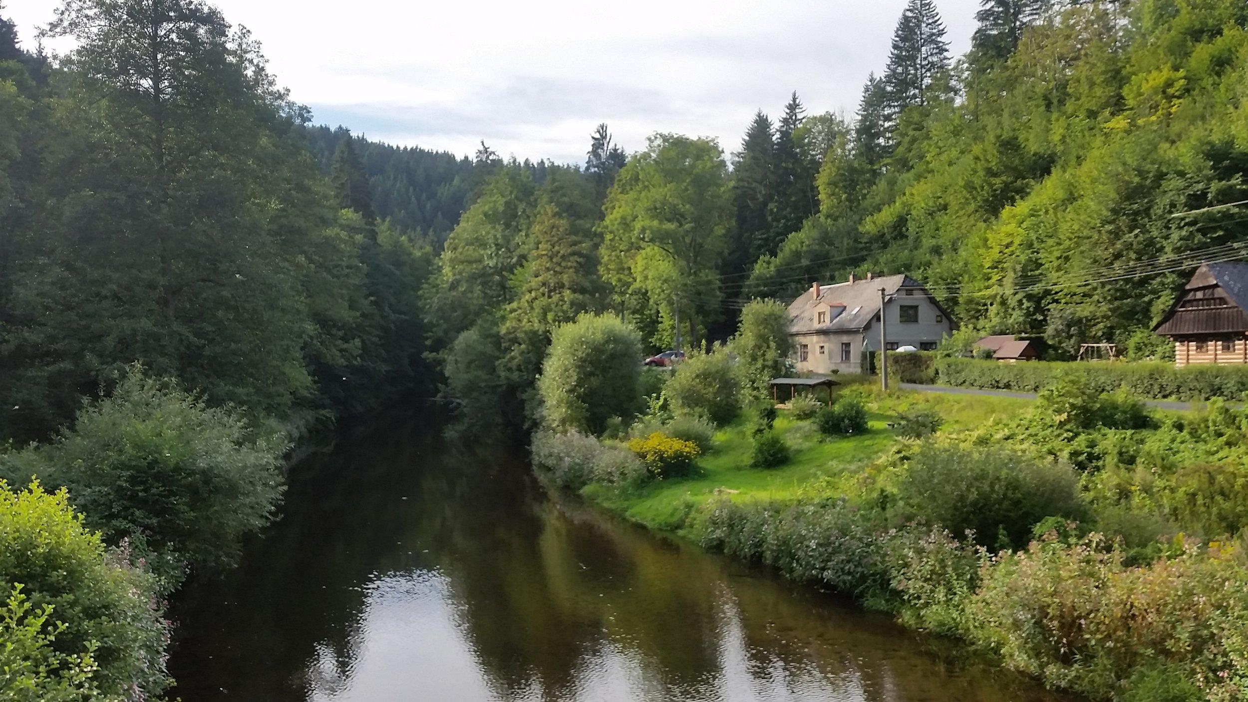 The town of Jesseny, Czech Republic