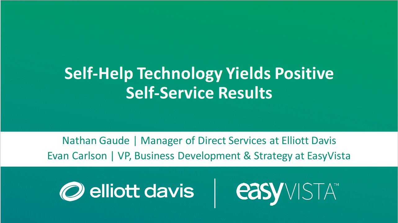 easyvista-self-help-report